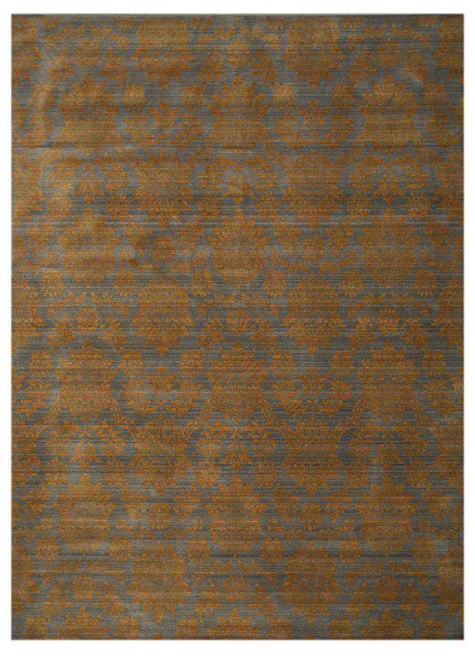 Kottayam Hand-Woven Brown Area Rug Rug Size: Rectangle 7'10