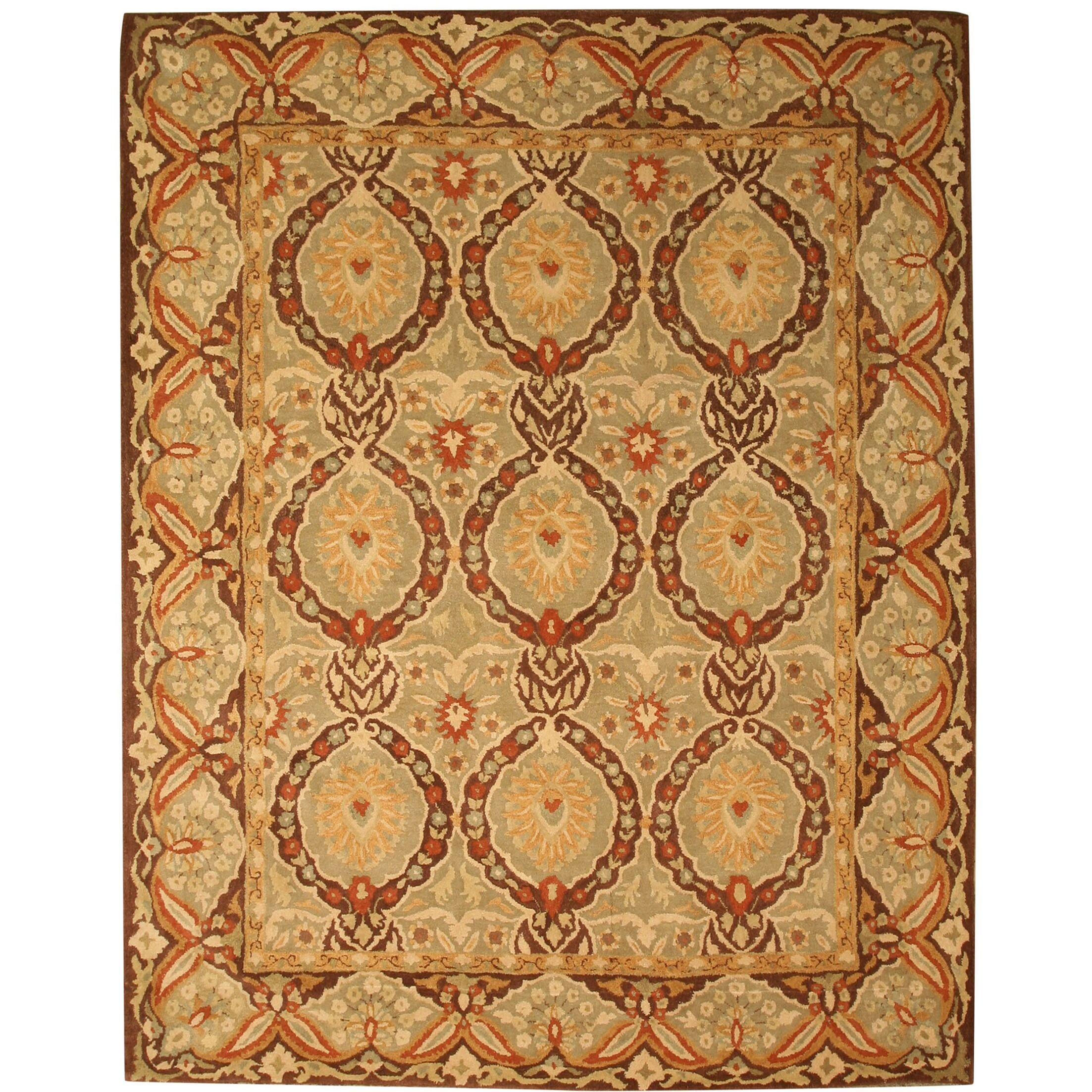 Lakhisarai Hand-Tufted Gold Area Rug Rug Size: Rectangle 8'9