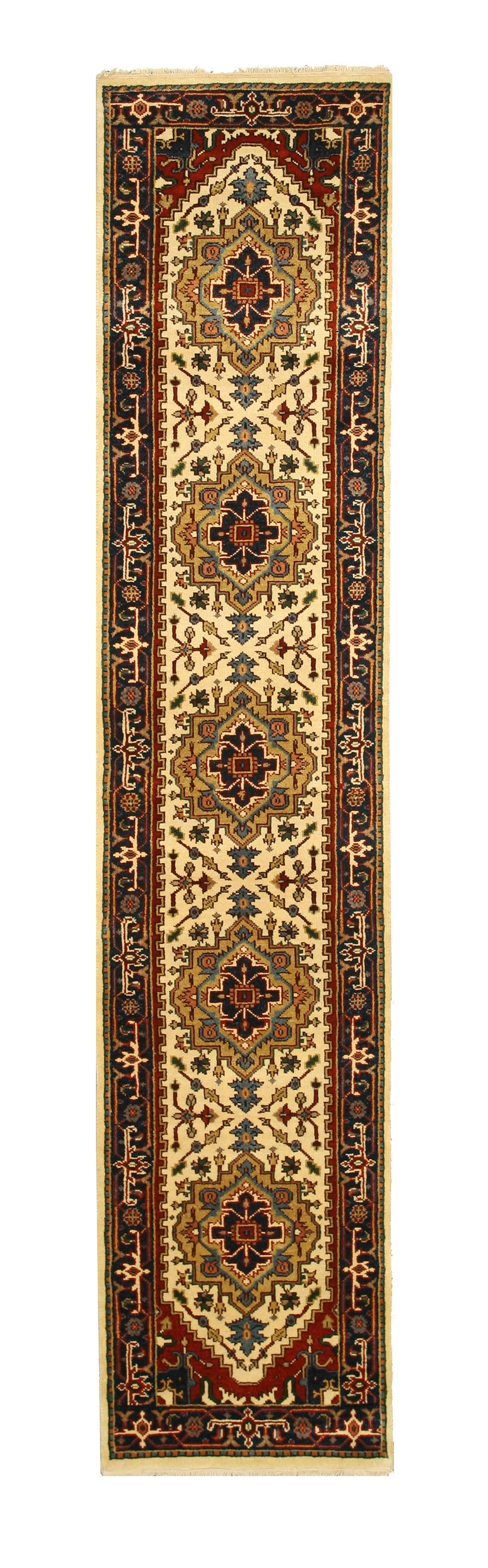 Hand-Knotted Brown/Beige Area Rug Rug Size: Runner 2'6