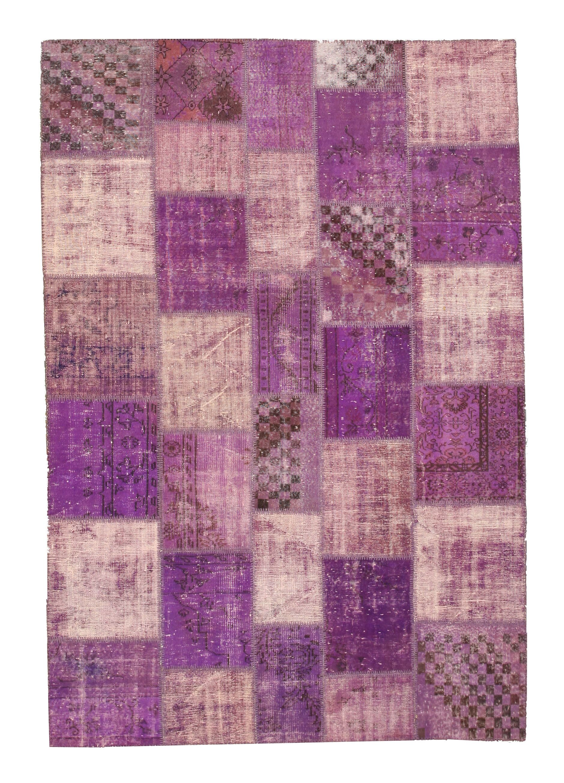Narkhed Hand-Knotted Purple Area Rug