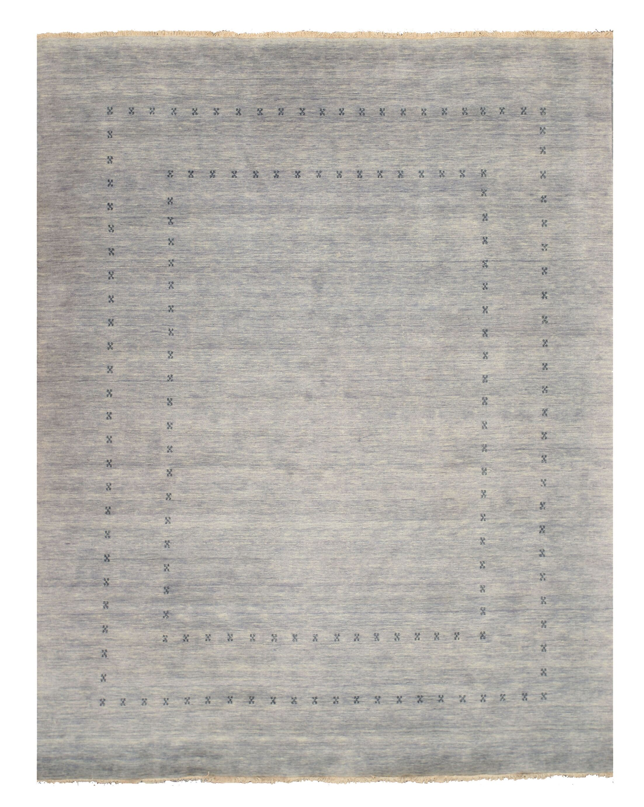 Drennon Hand-Knotted Gray Area Rug Rug Size: 8' x 10'