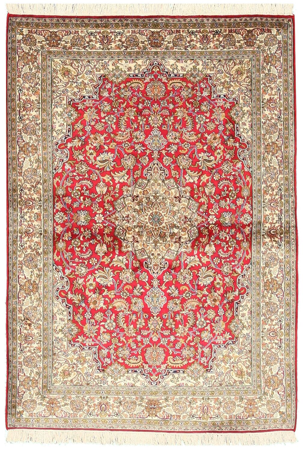 Pachora Hand-Knotted Red/Beige Area Rug