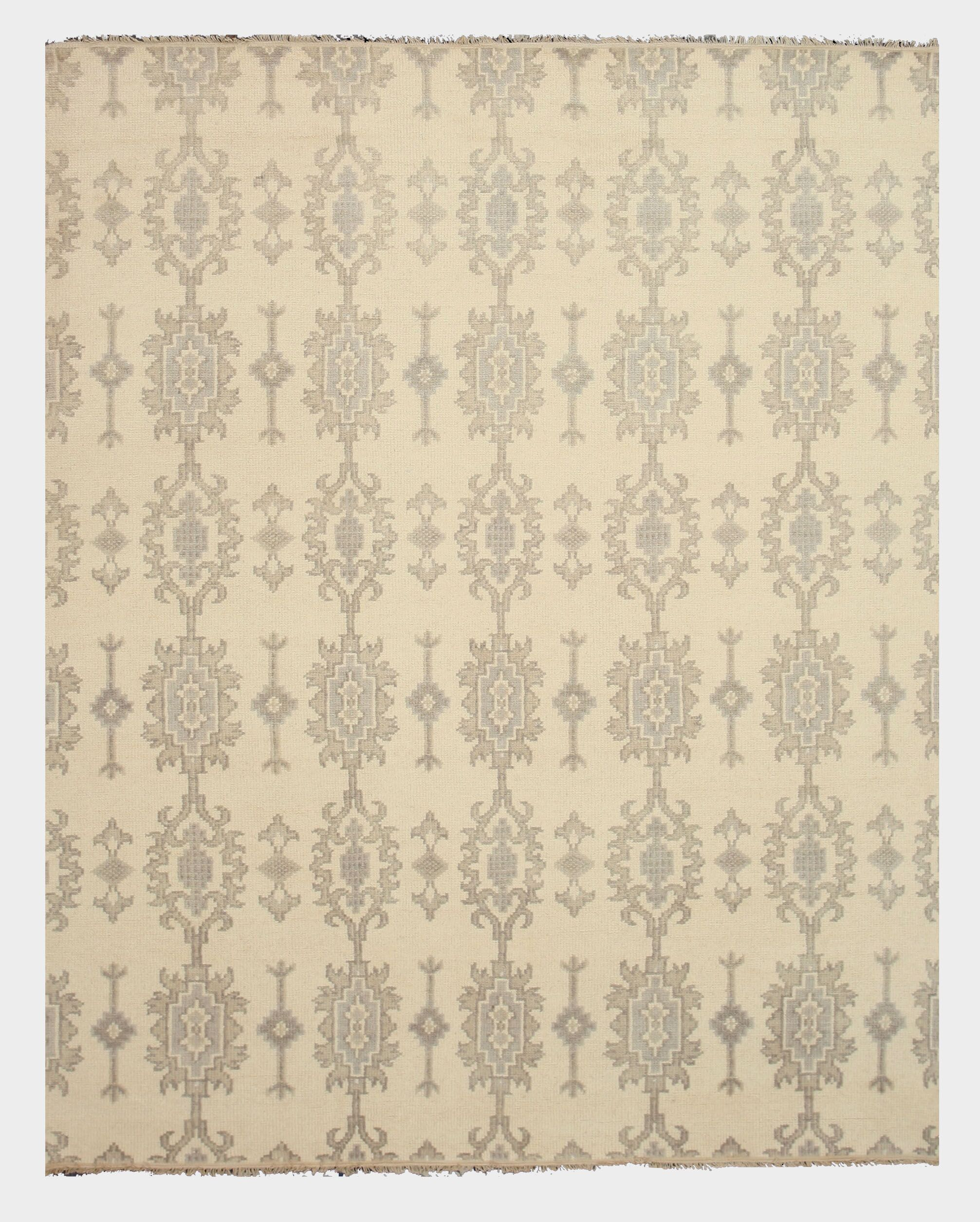 Pakaur Hand-Knotted Beige/Gray Area Rug Rug Size: Rectangle 8' x 10'