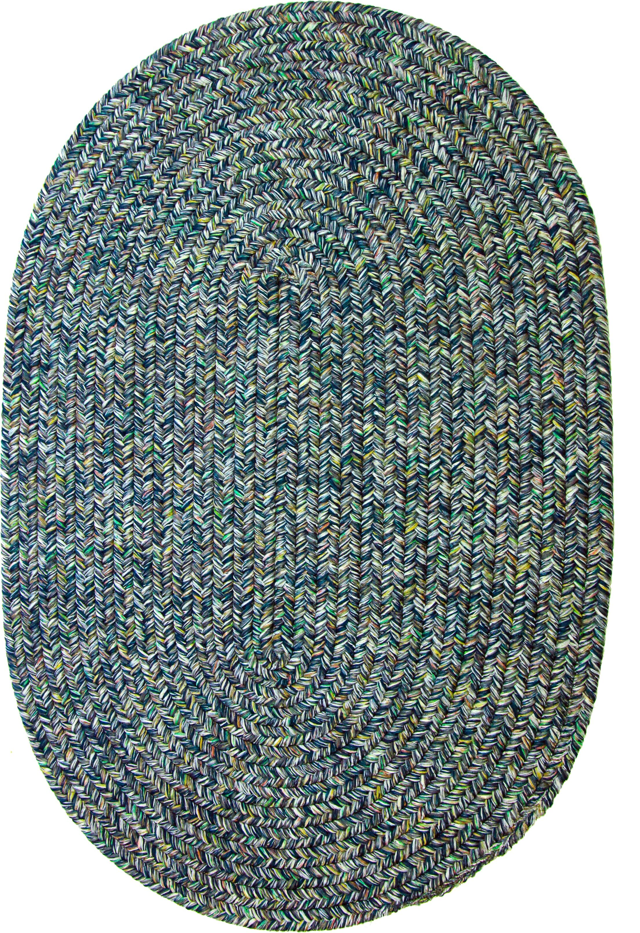 Rayadurg Denim Blue Indoor/Outdoor Area Rug Rug Size: Round 8'
