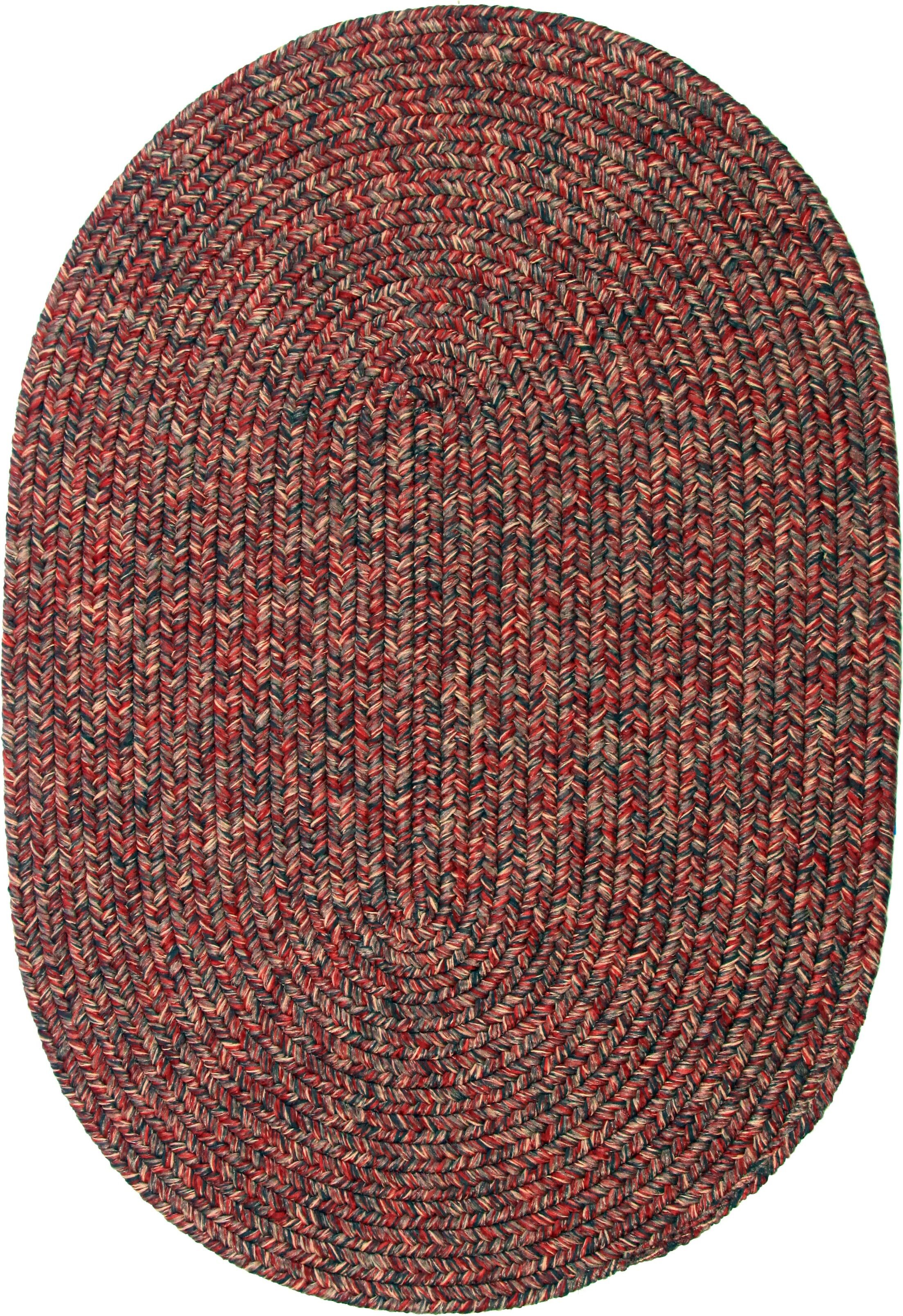 Revelganj Red Indoor/Outdoor Area Rug Rug Size: Oval 10' x 13'