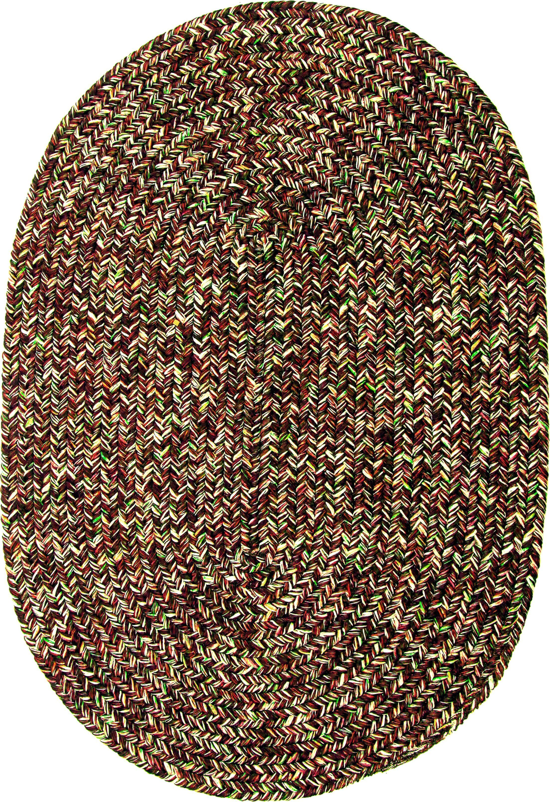 Rishikesh Brown Indoor/Outdoor Area Rug Rug Size: Oval 7' x 9'