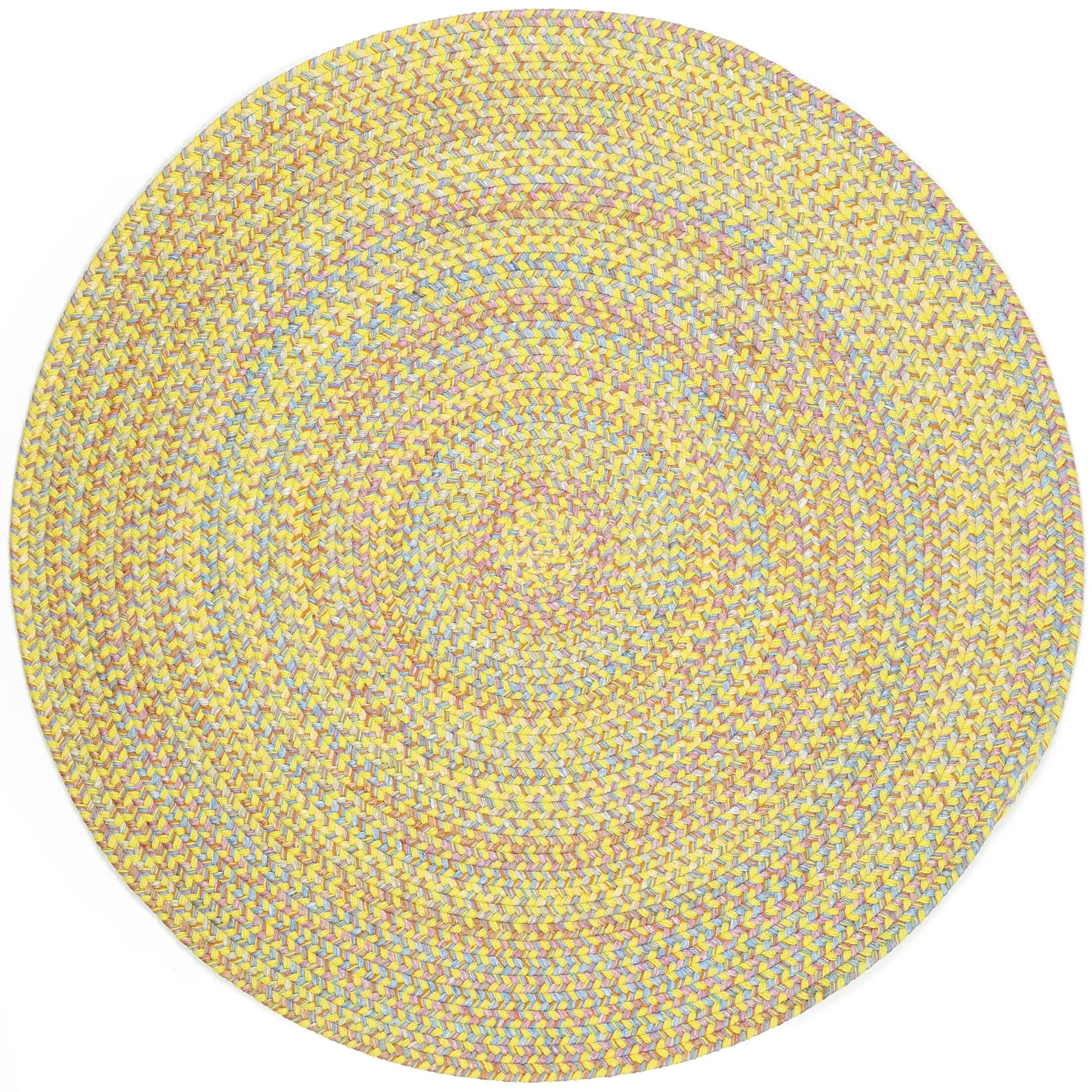 Sabalgarh Yellow Indoor/Outdoor Area Rug Rug Size: Round 6'