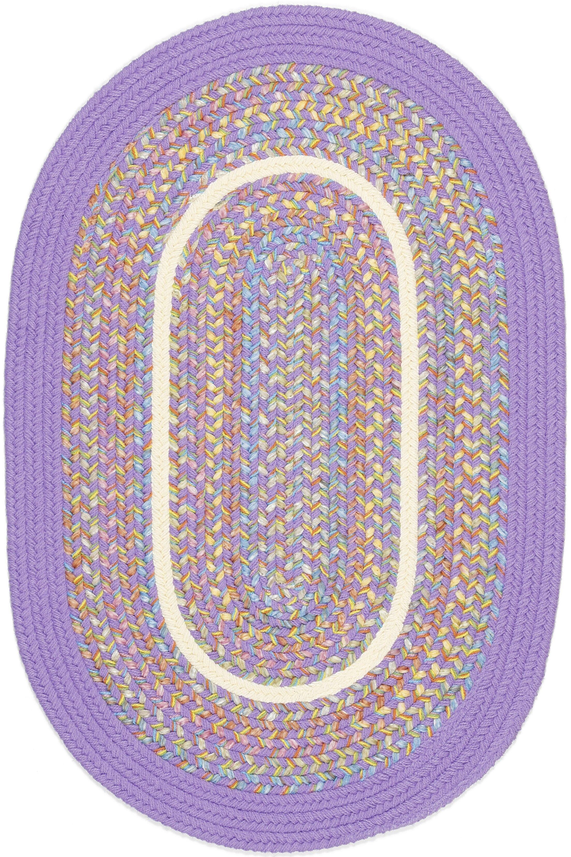 Sadabad Purple Indoor/Outdoor Area Rug Rug Size: Oval 8' x 11'