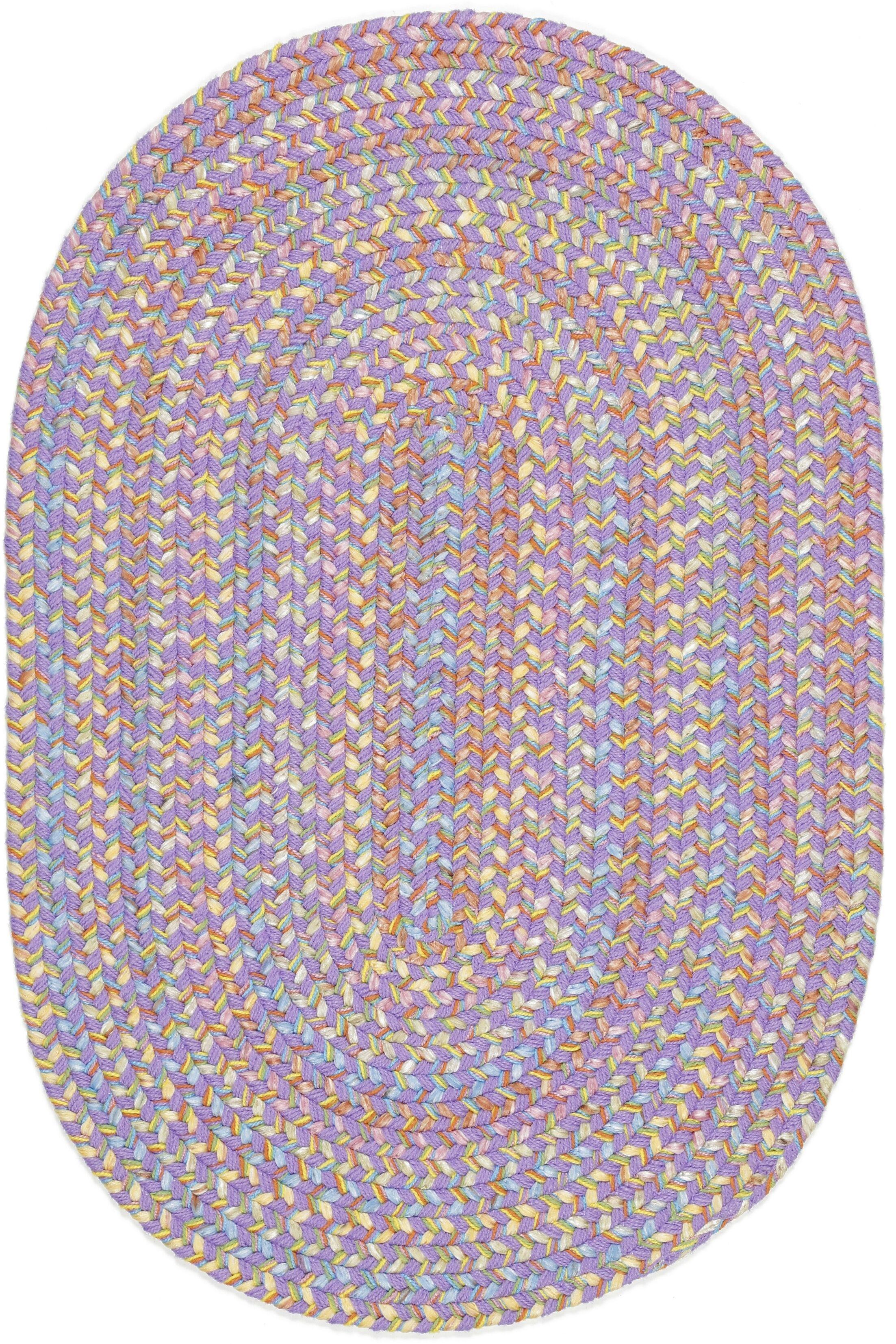 Sadri Violet Indoor/Outdoor Area Rug Rug Size: Oval 5' x 8'