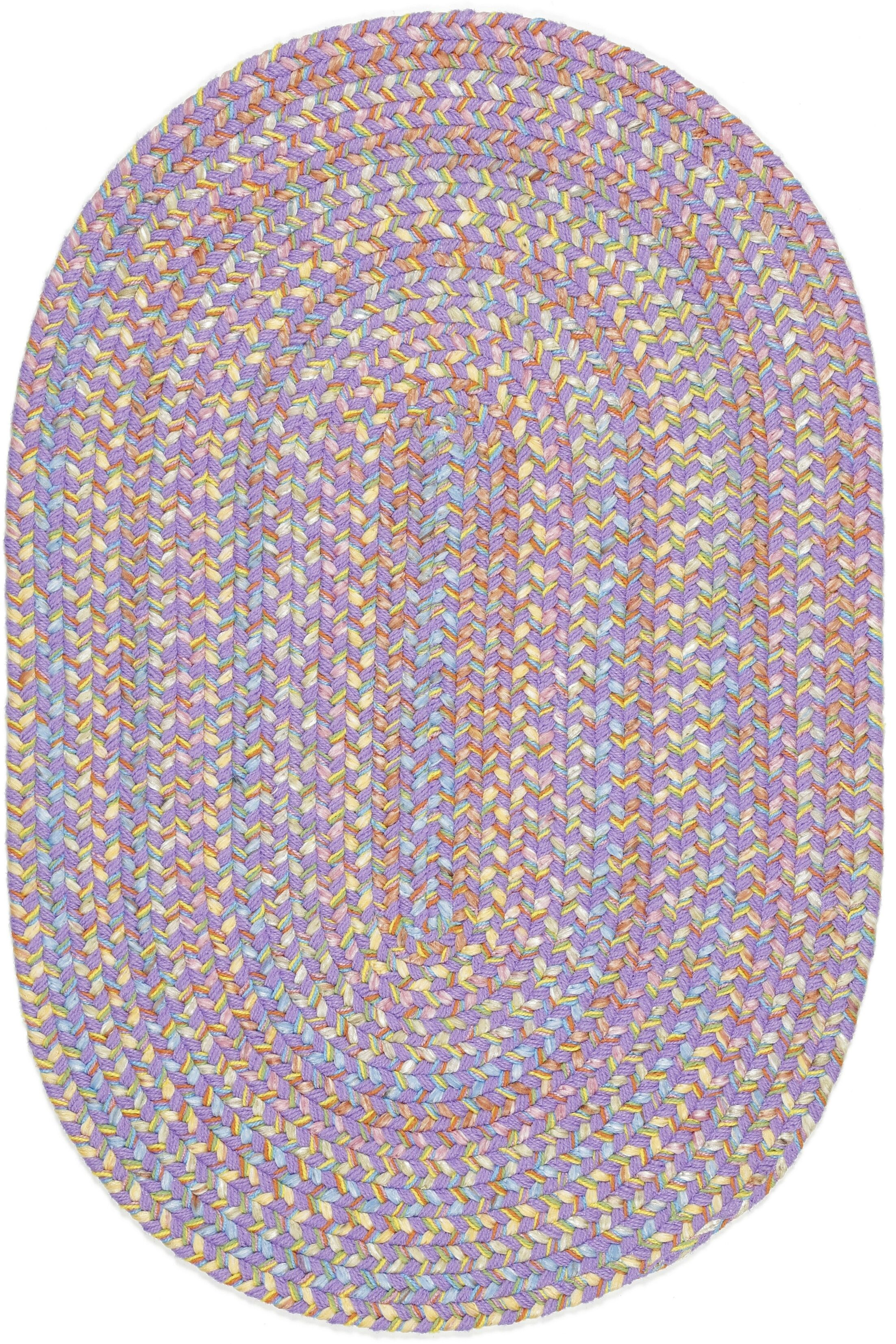 Sadri Violet Indoor/Outdoor Area Rug Rug Size: Oval 10' x 13'