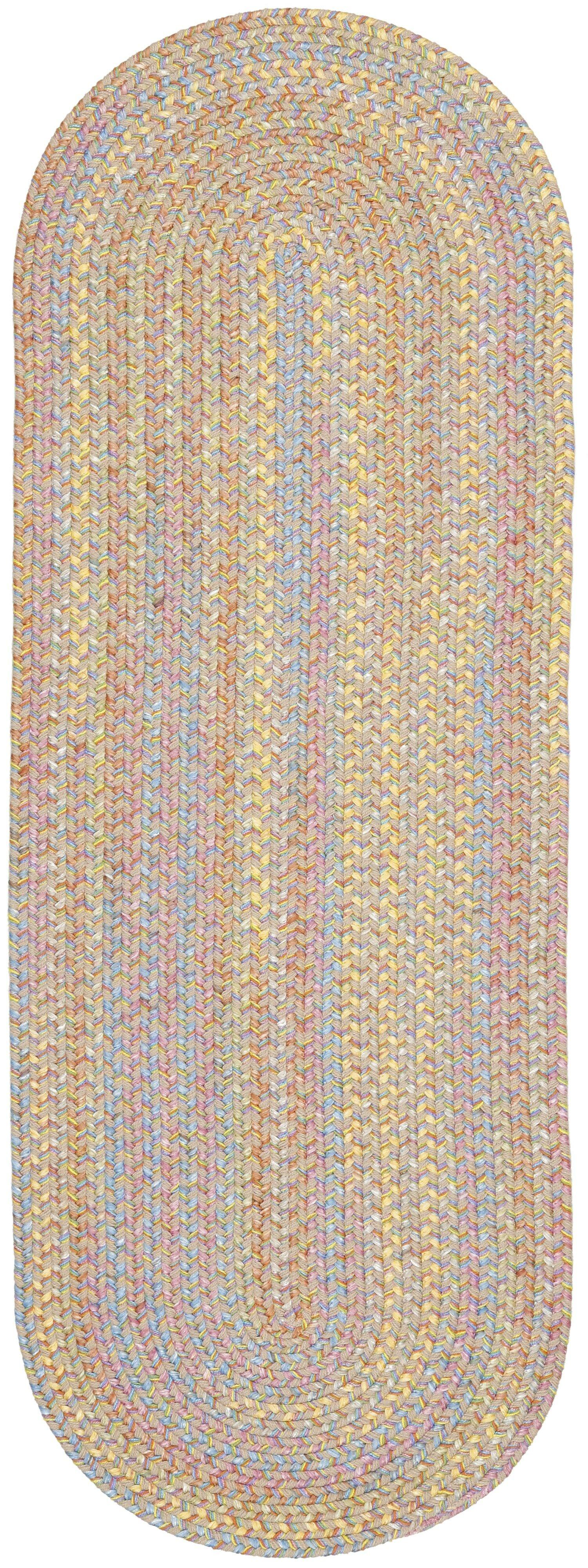 Safidon Beige Indoor/Outdoor Area Rug Rug Size: Oval 2' x 8'