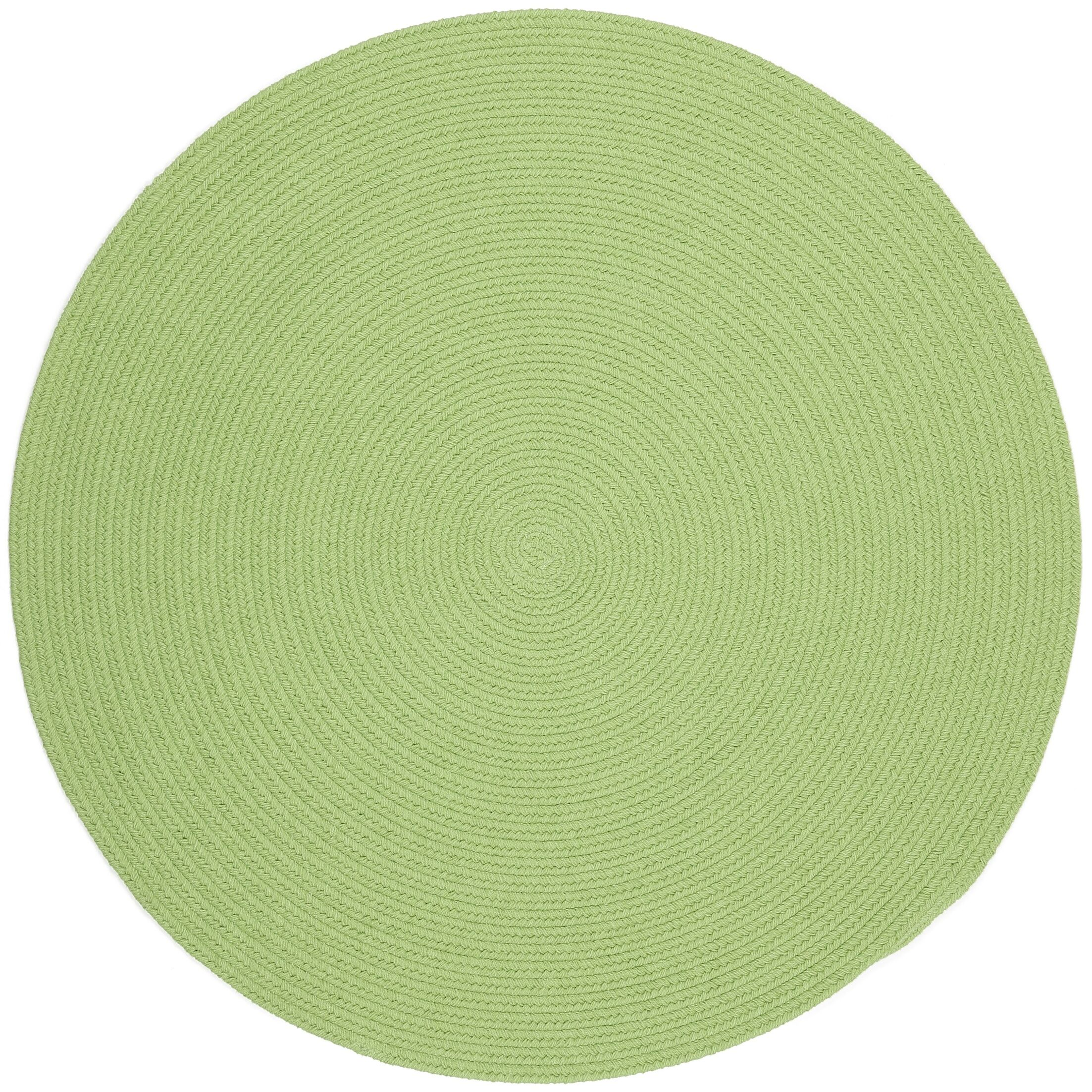 Sagara Lime Indoor/Outdoor Area Rug Rug Size: Round 8'