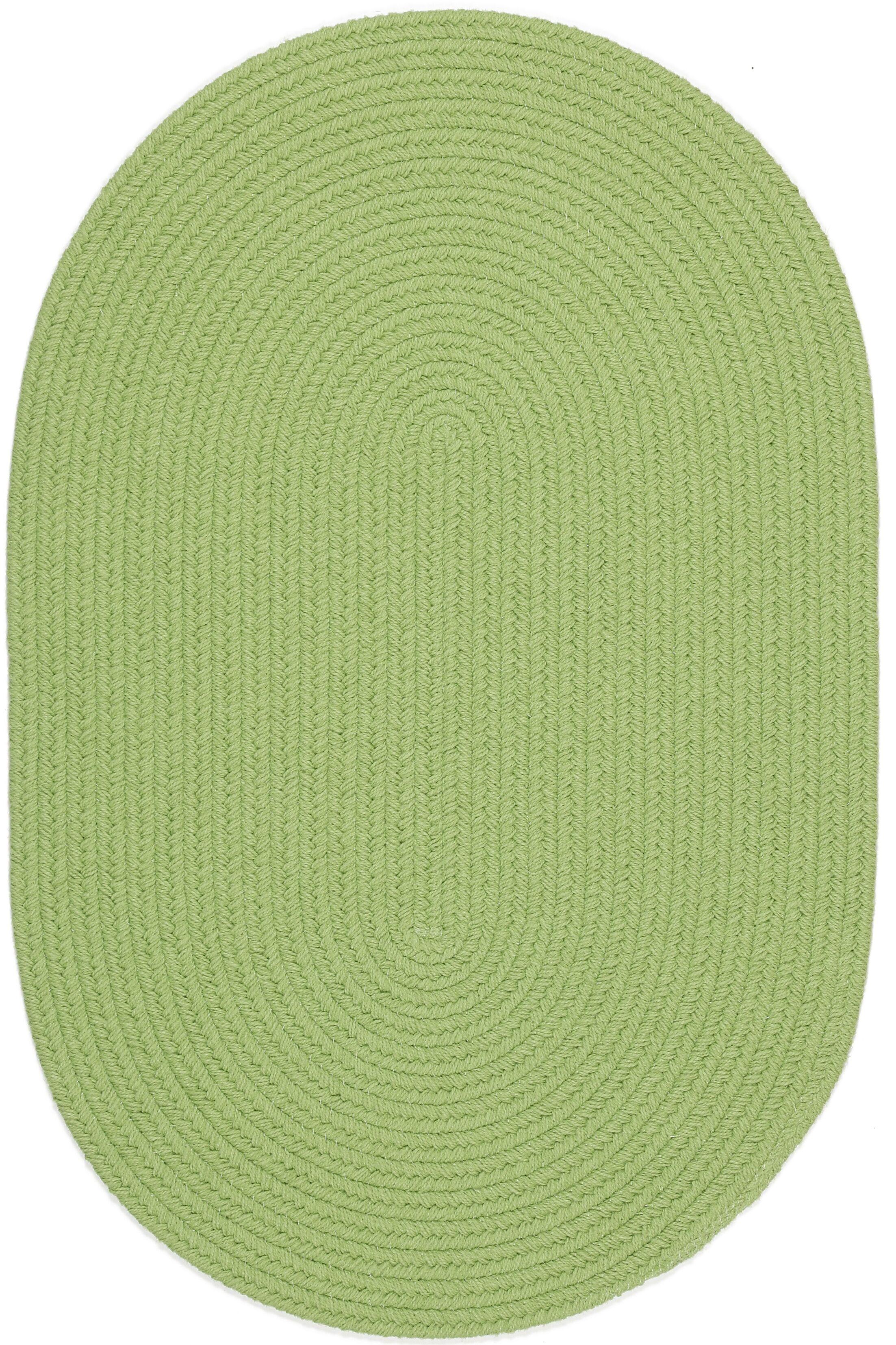 Sagara Lime Indoor/Outdoor Area Rug Rug Size: Oval 5' x 8'