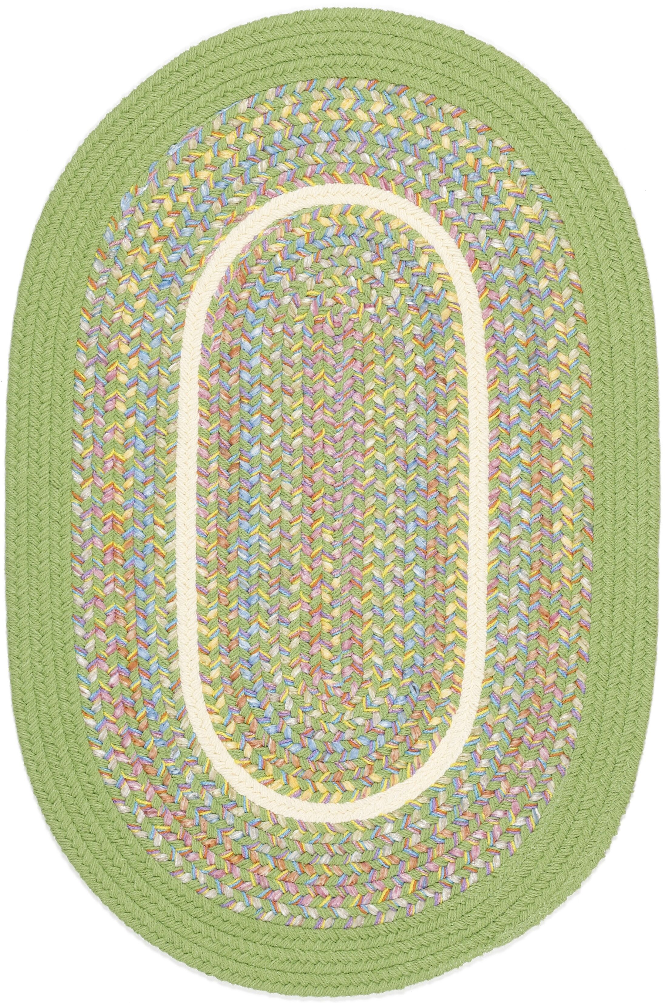Sagwara Lime Indoor/Outdoor Area Rug Rug Size: Oval 2' x 6'