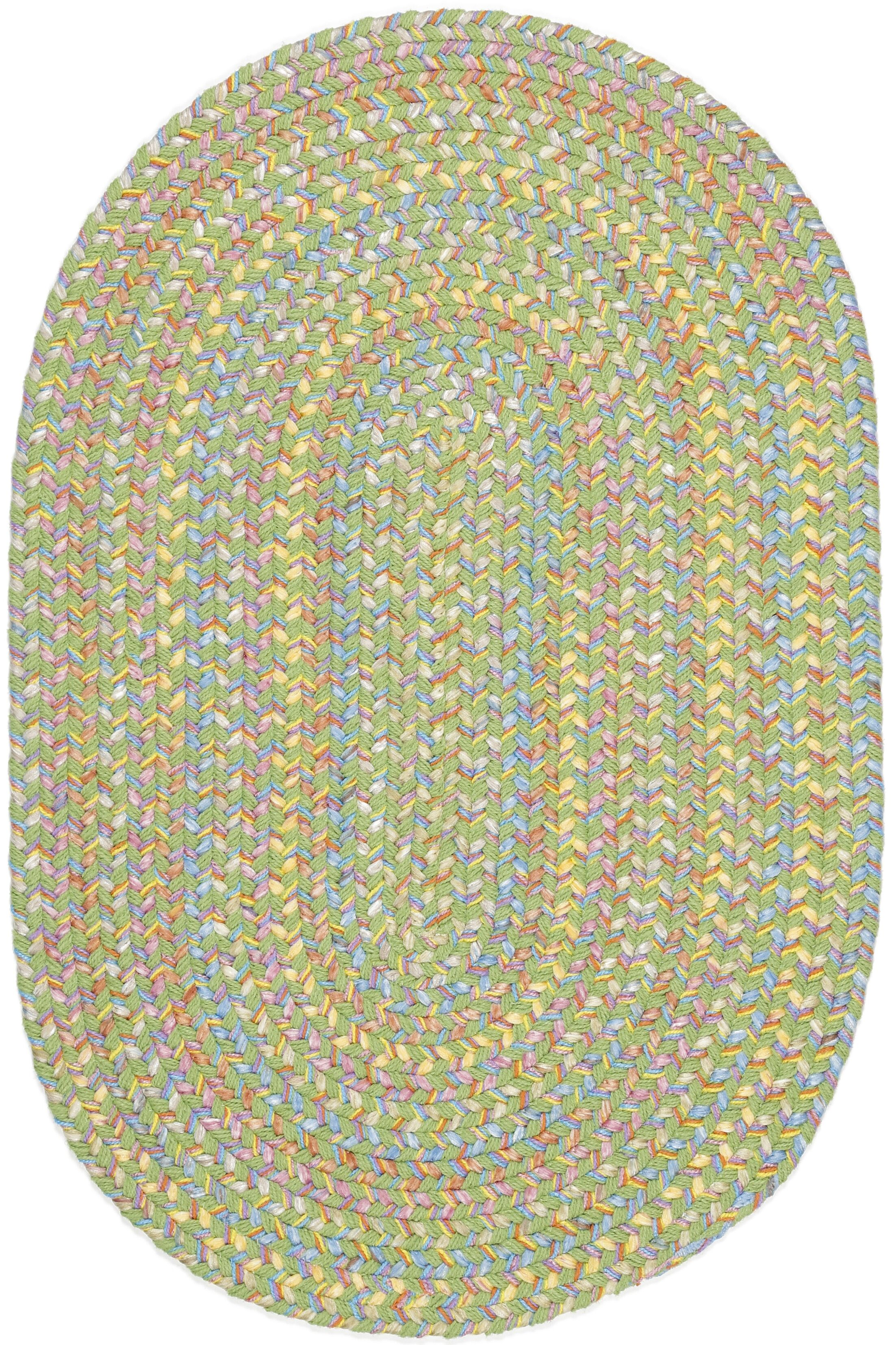 Sahaspur Lime Indoor/Outdoor Area Rug Rug Size: Oval 7' x 9'