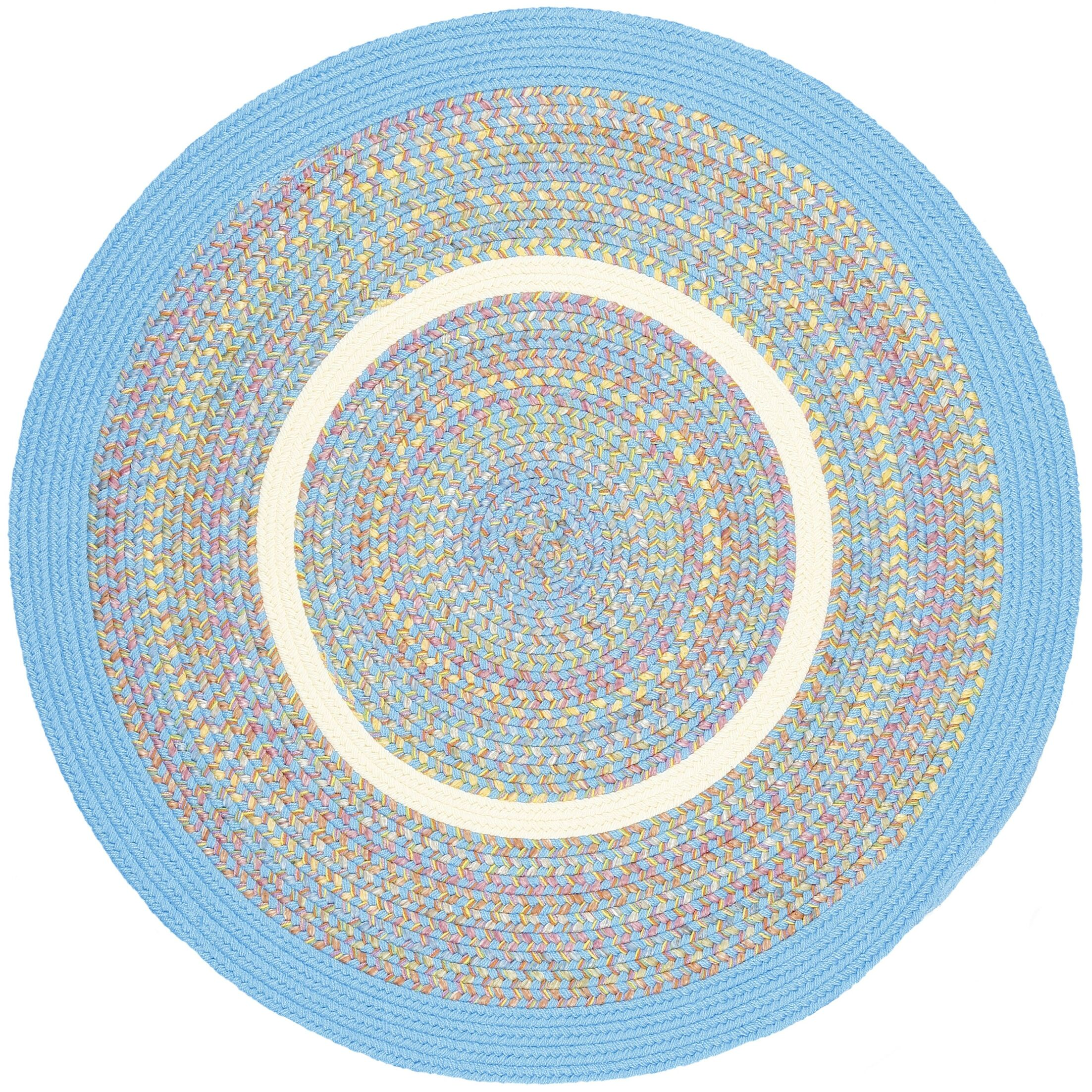 Sahaswan Blue Indoor/Outdoor Area Rug Rug Size: Round 4'