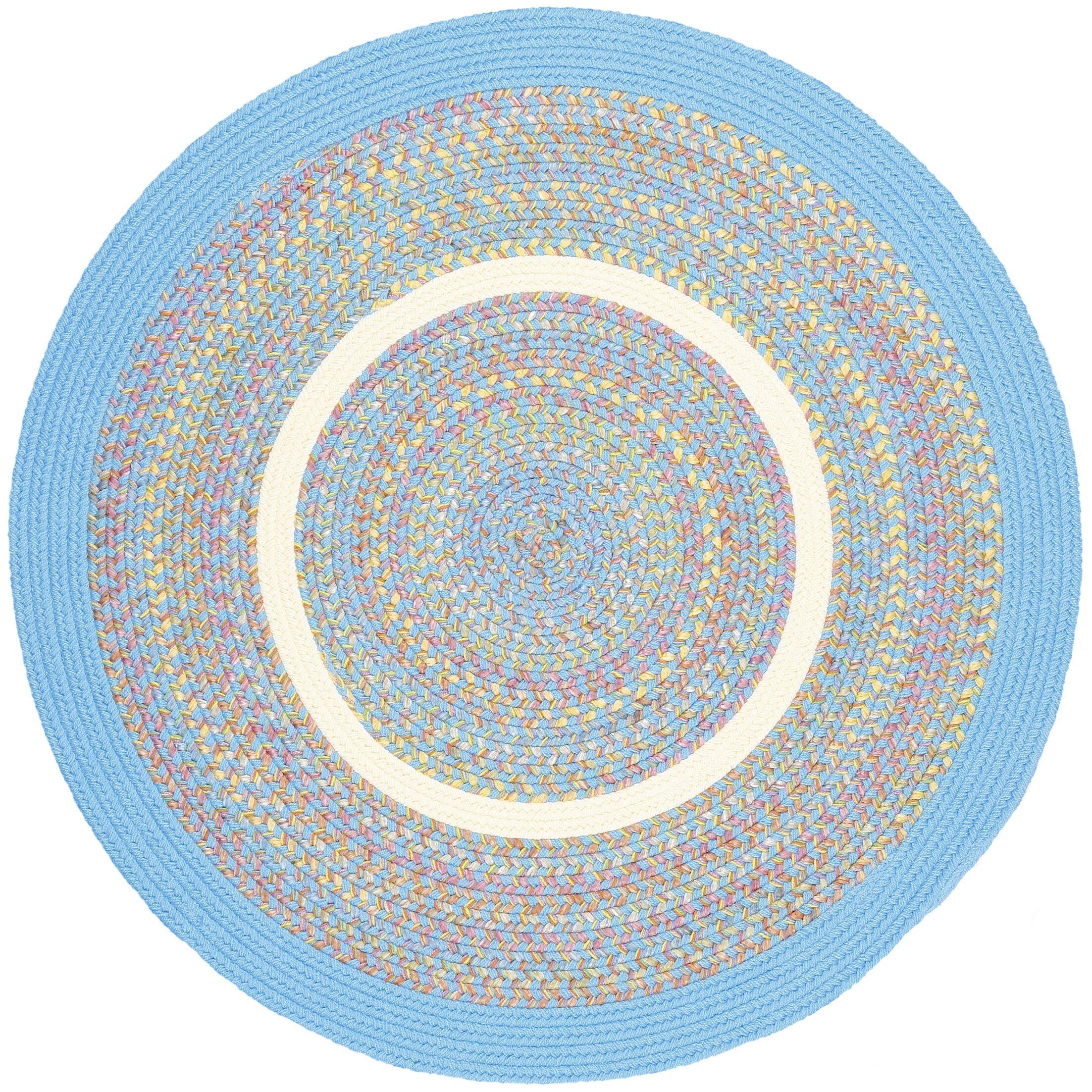 Sahaswan Blue Indoor/Outdoor Area Rug Rug Size: Round 8'