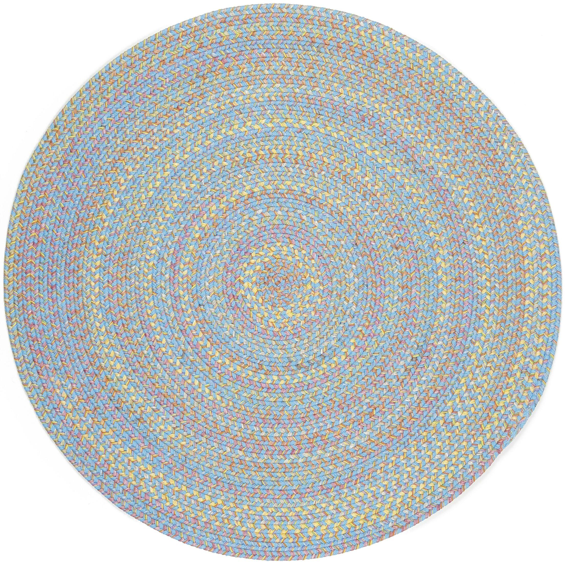 Sahawar Blue Indoor/Outdoor Area Rug Rug Size: Round 10'