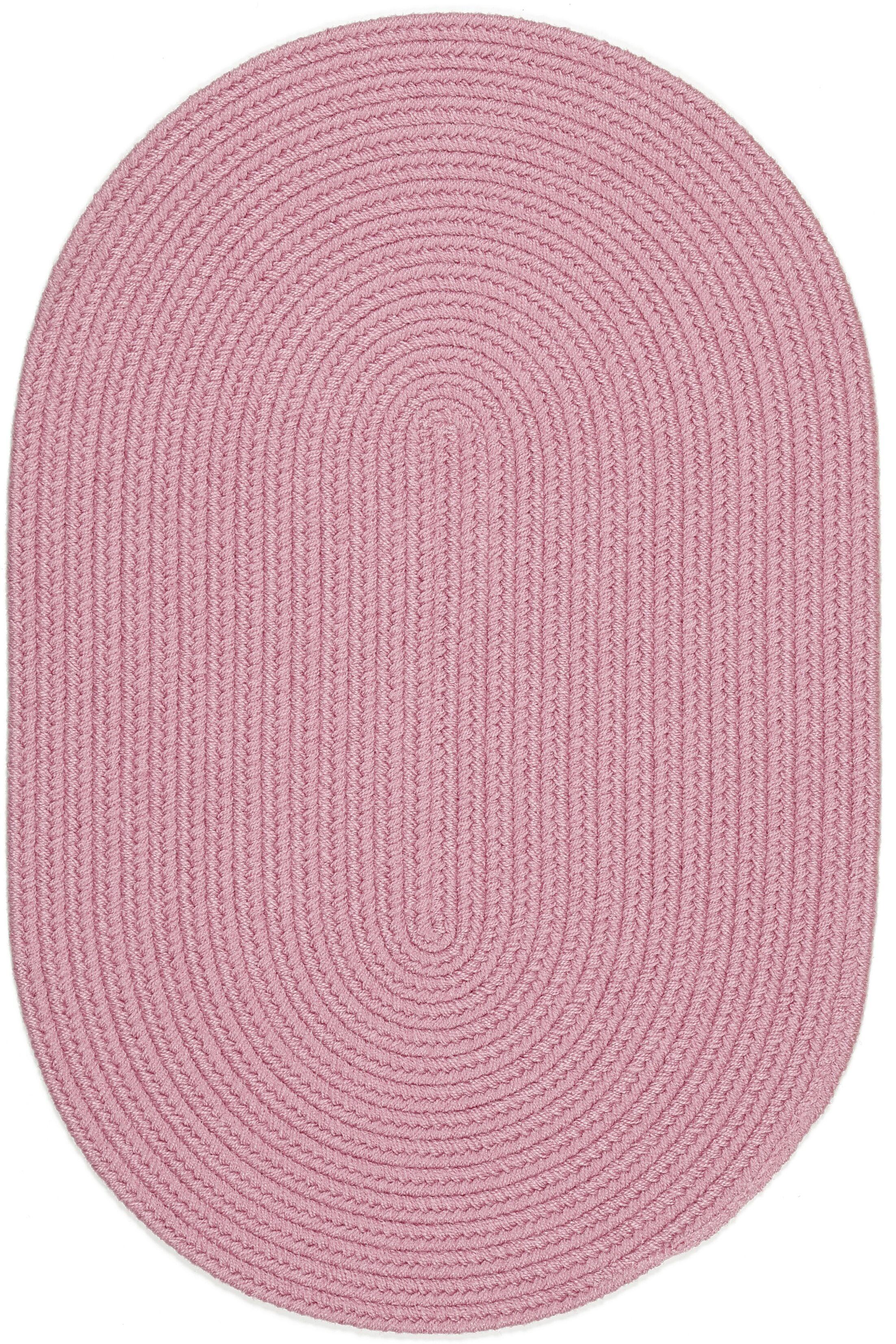 Sahibganj Pink Indoor/Outdoor Area Rug Rug Size: Oval 3' x 5'