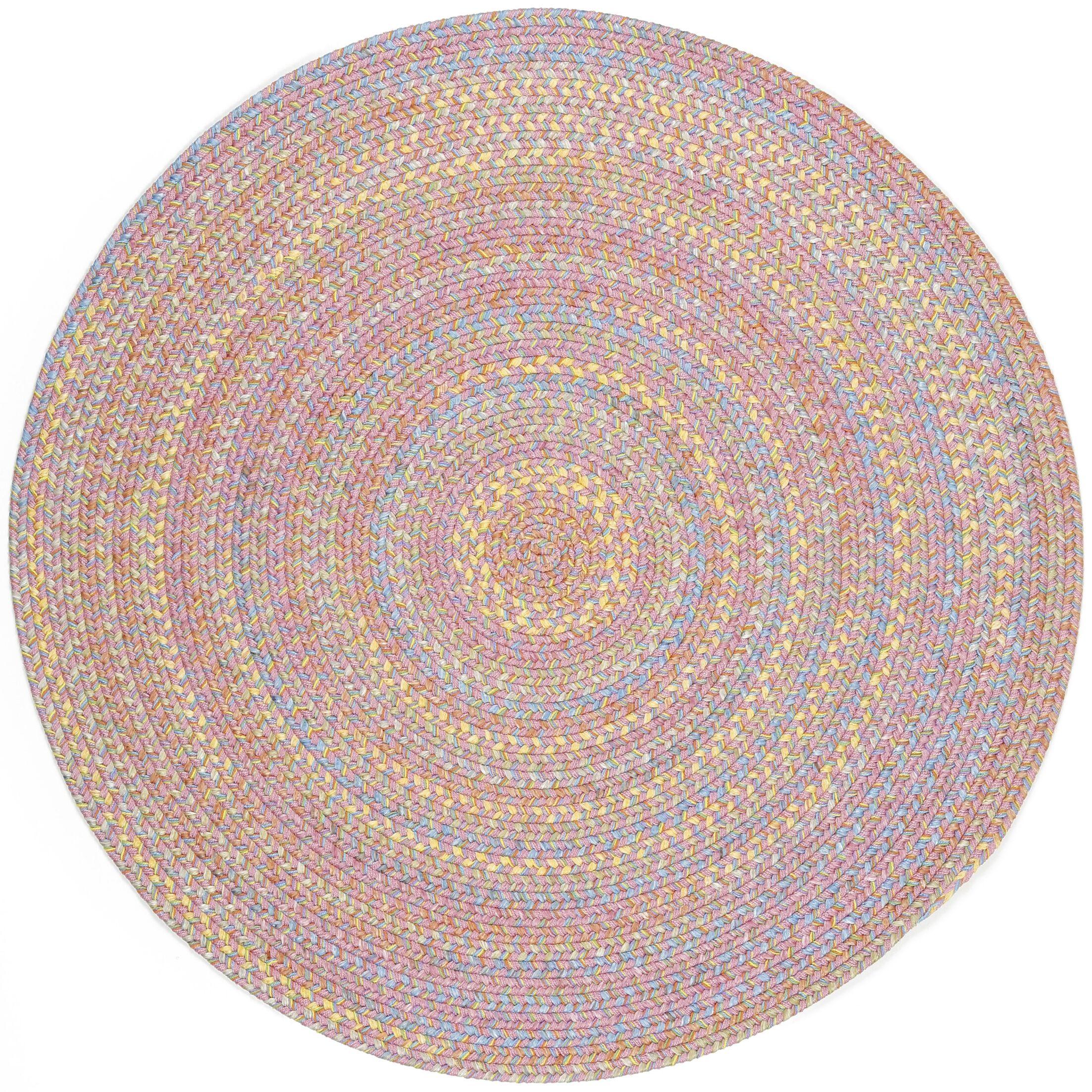 Saidpur Pink Indoor/Outdoor Area Rug Rug Size: Round 6'