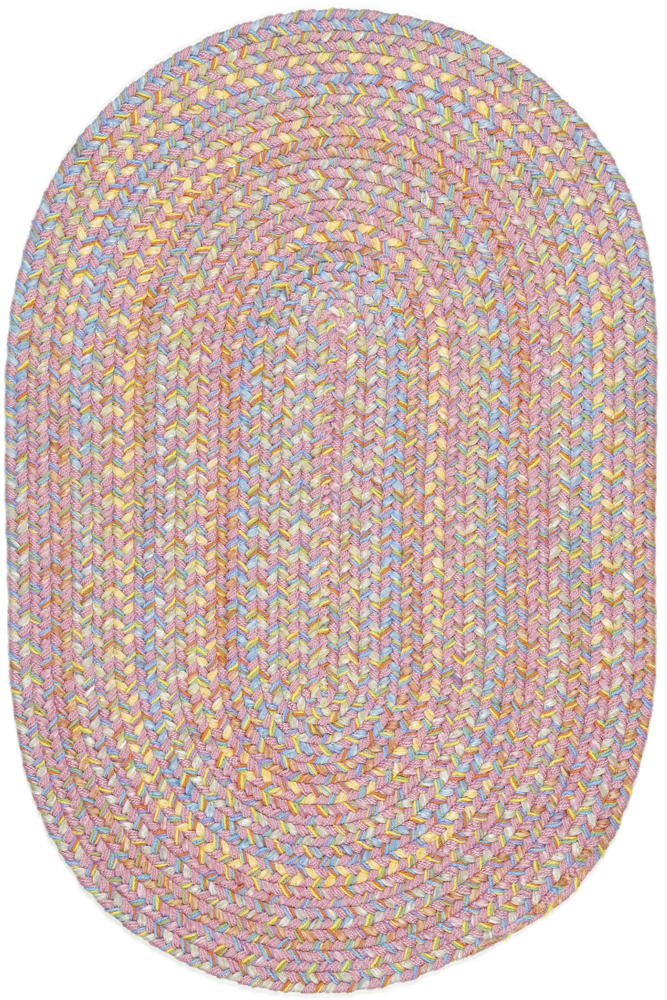 Saidpur Pink Indoor/Outdoor Area Rug Rug Size: Oval 7' x 9'