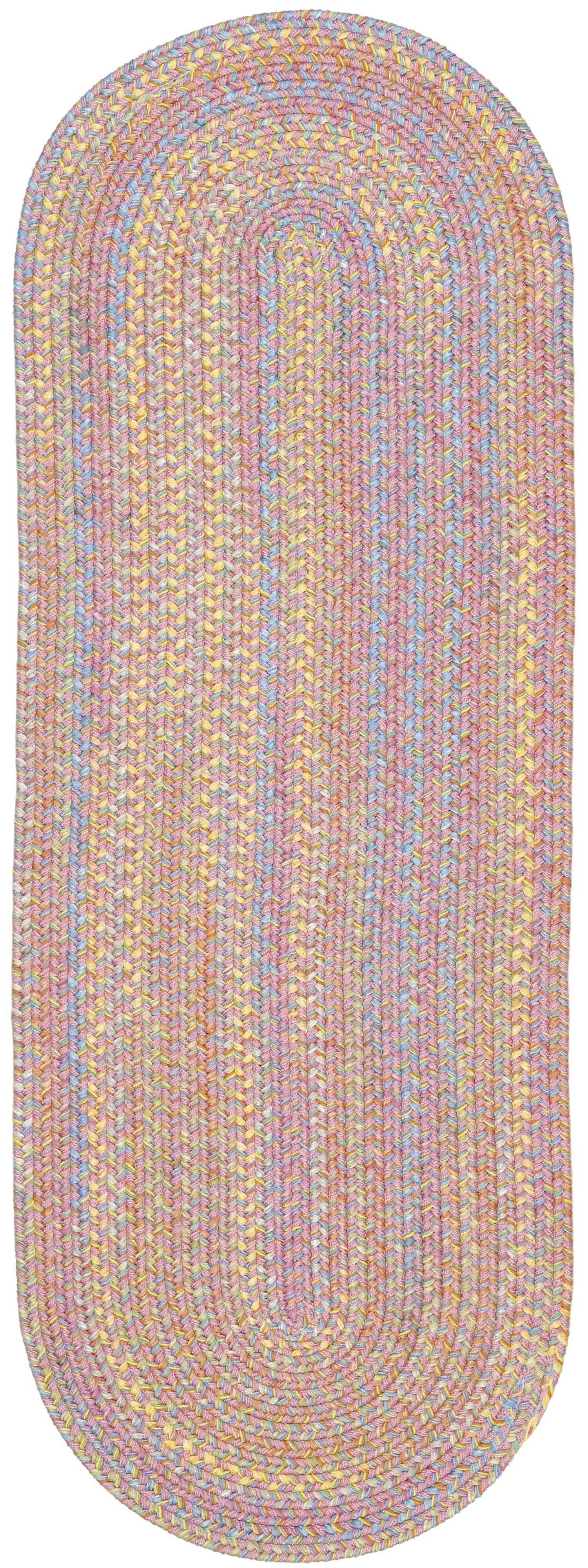 Saidpur Pink Indoor/Outdoor Area Rug Rug Size: Oval 2' x 8'