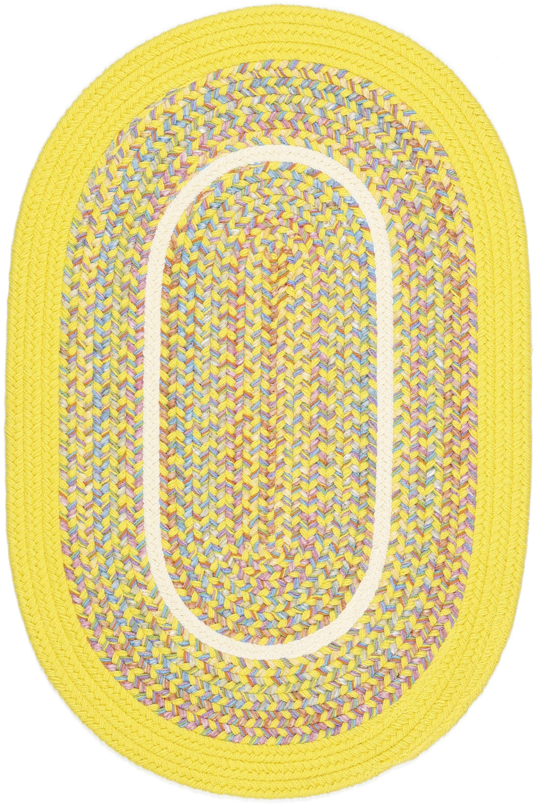 Sailu Yellow Indoor/Outdoor Area Rug Rug Size: Oval 8' x 11'