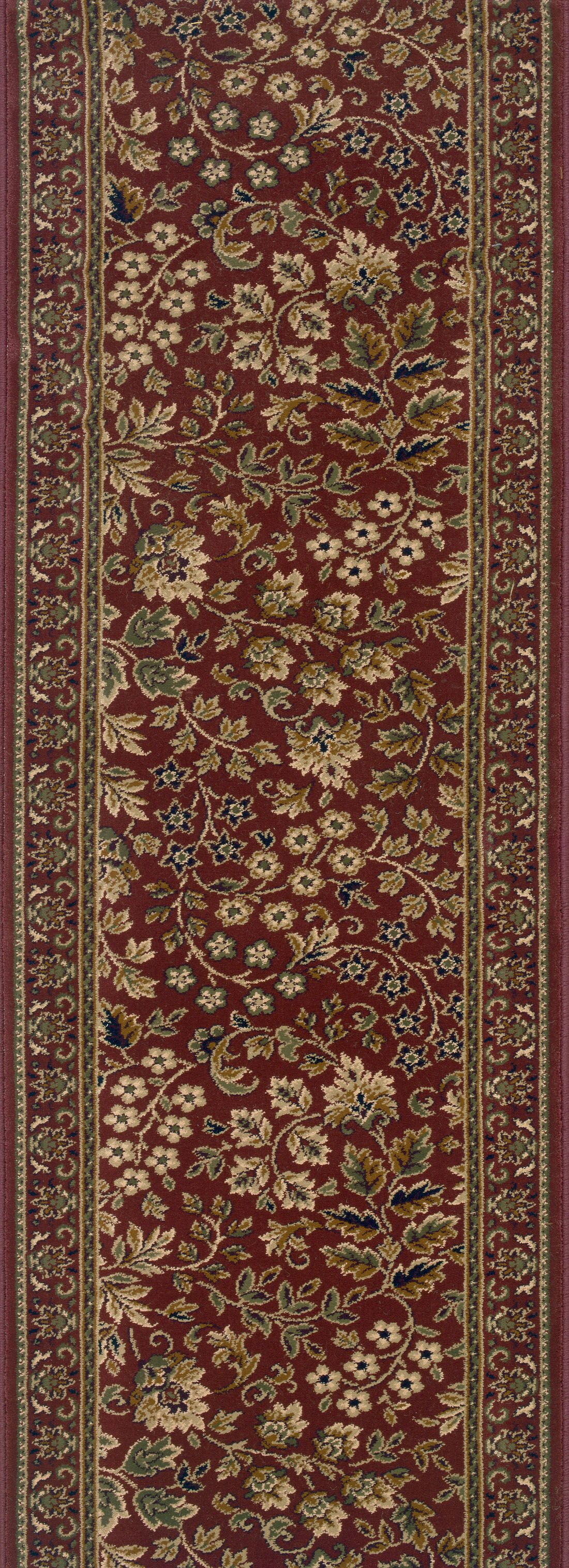 Sujanpur Red Area Rug Rug Size: Runner 2'2