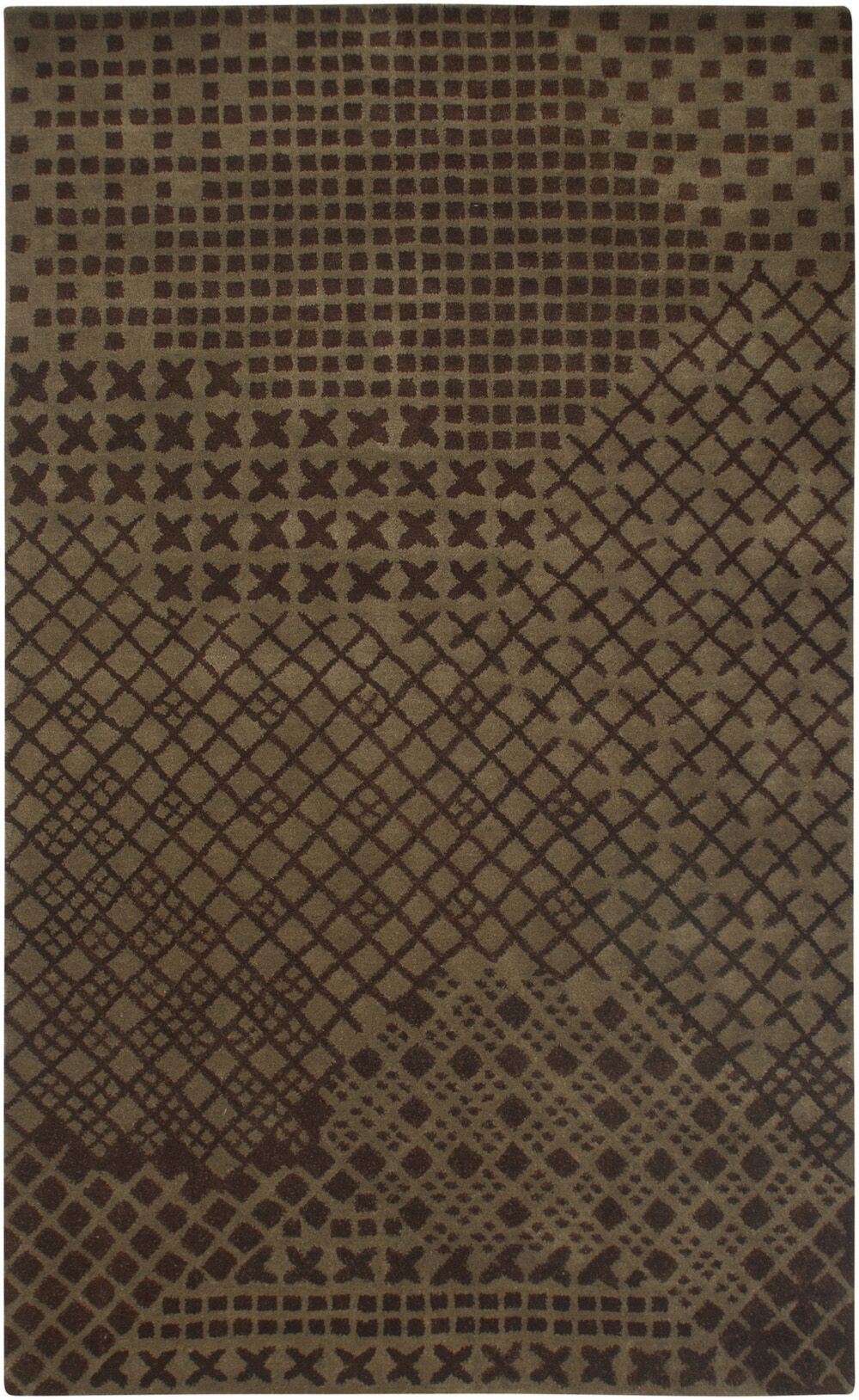 Umreth Hand-Tufted Brown Area Rug Rug Size: Rectangle 9' x 12'
