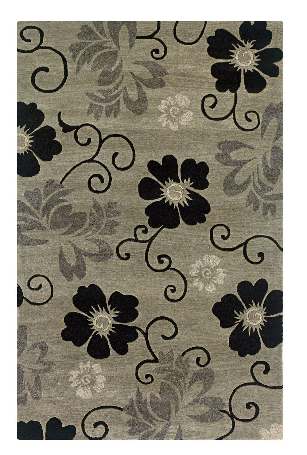 Vaikom Hand-Tufted Pewter Area Rug Rug Size: Rectangle 8' x 10'