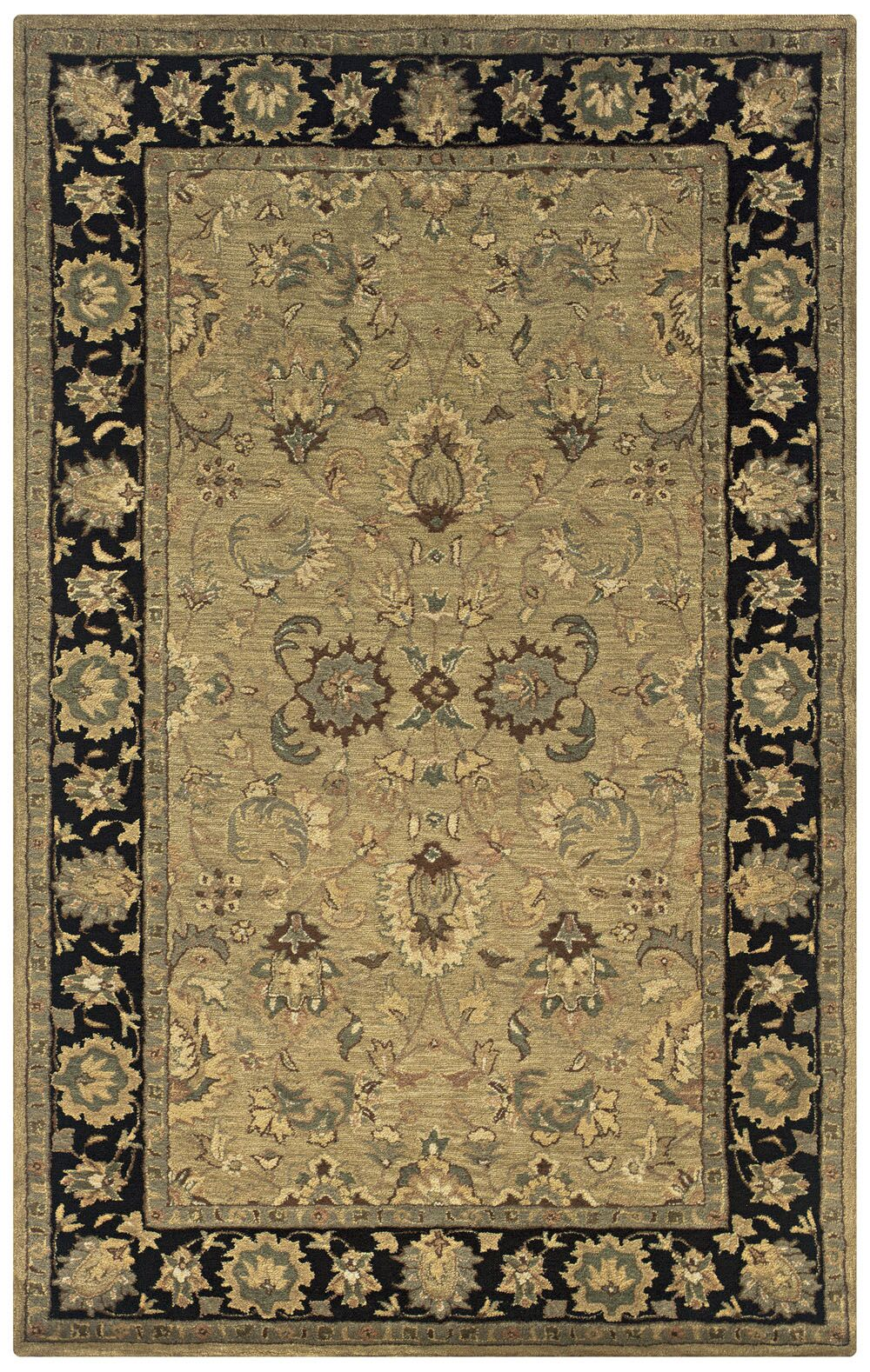 Vedaranyam Hand-Tufted Beige Area Rug Rug Size: Rectangle 8' x 10'