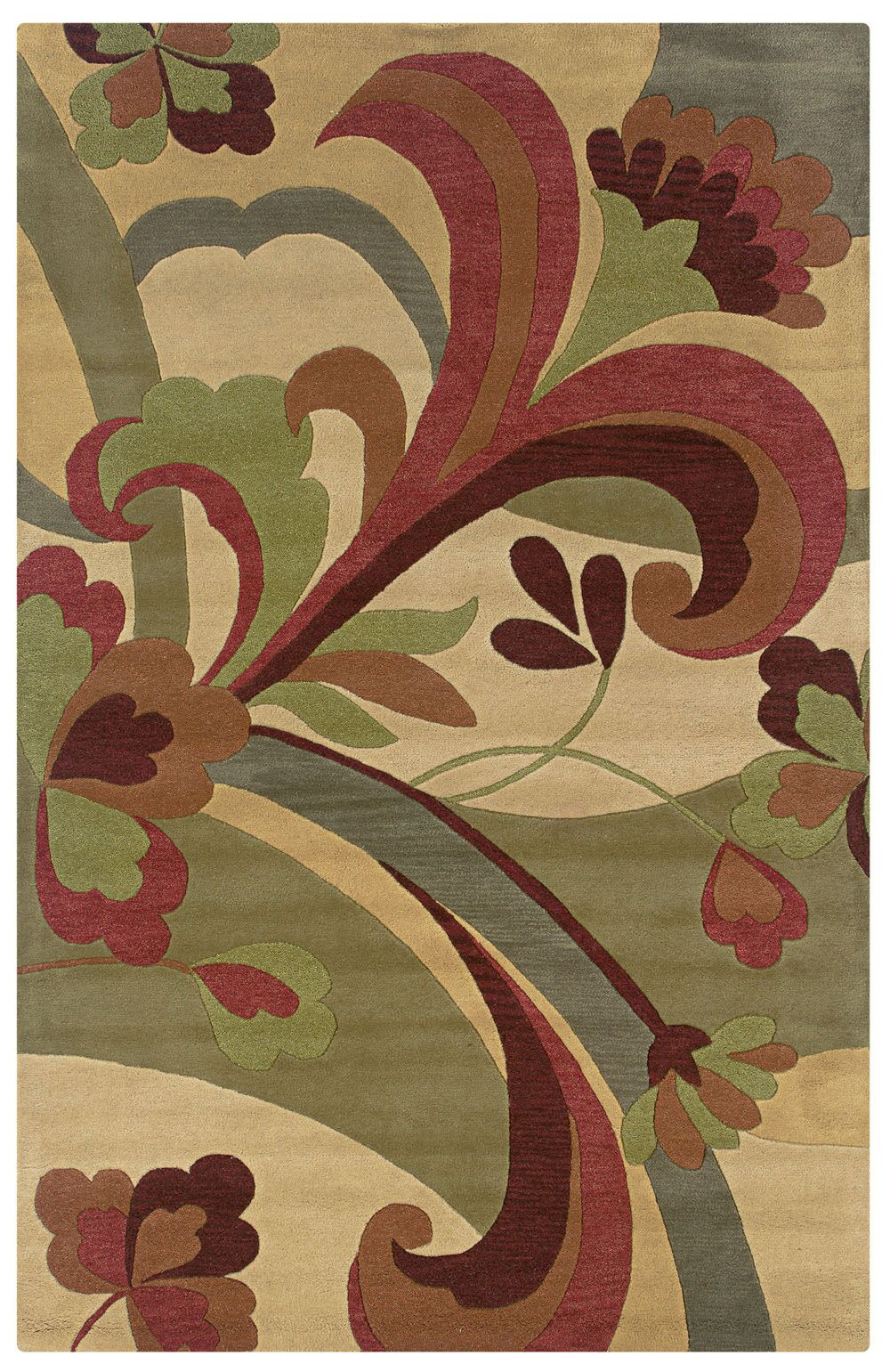 Vellakoil Hand-Tufted Gold Area Rug Rug Size: Rectangle 9' x 12'