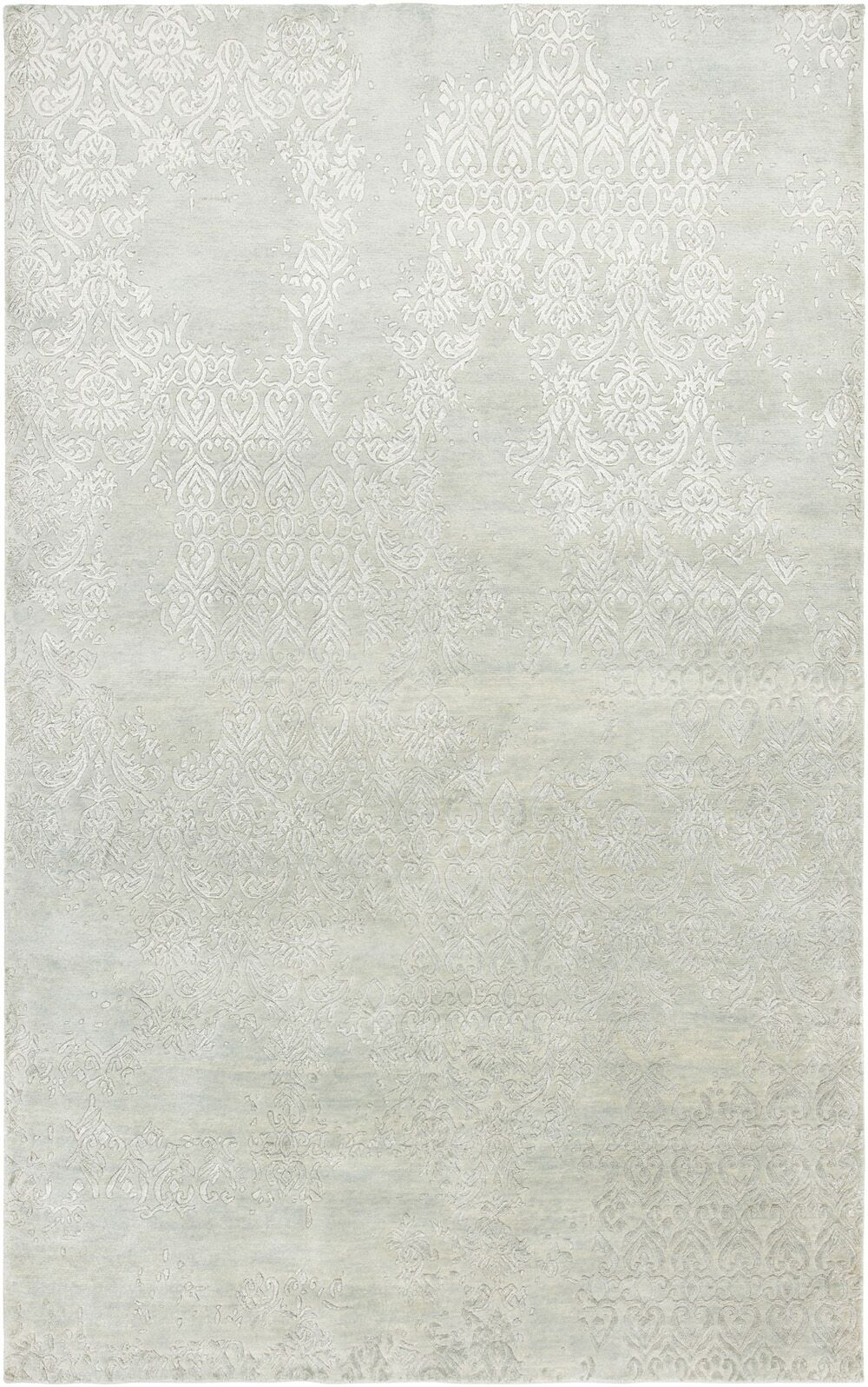 Vijayapura Hand-Knotted Light Blue Area Rug Rug Size: Runner 2'6