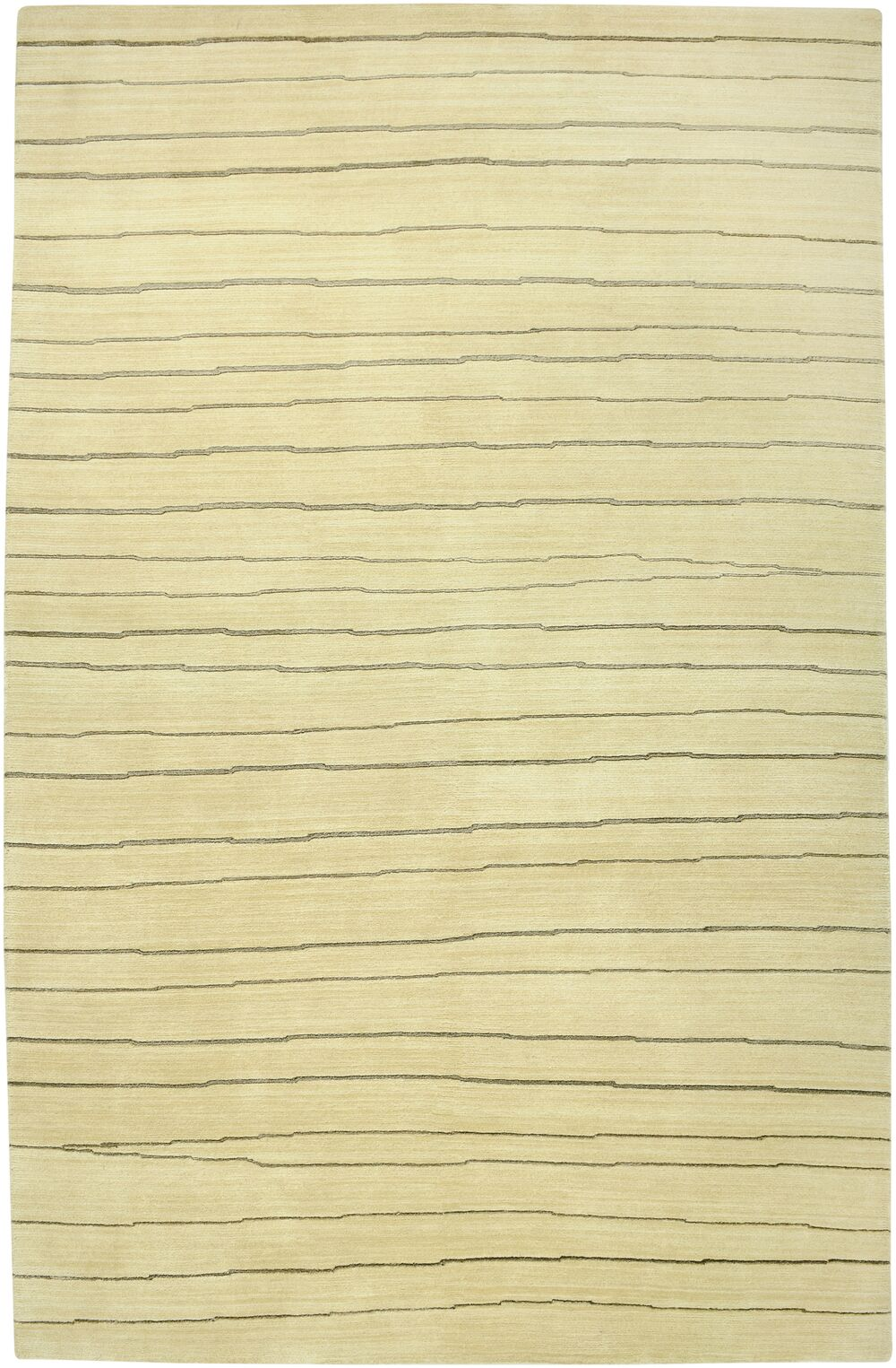 Wankaner Hand-Knotted Ivory Area Rug Rug Size: Rectangle 3'6
