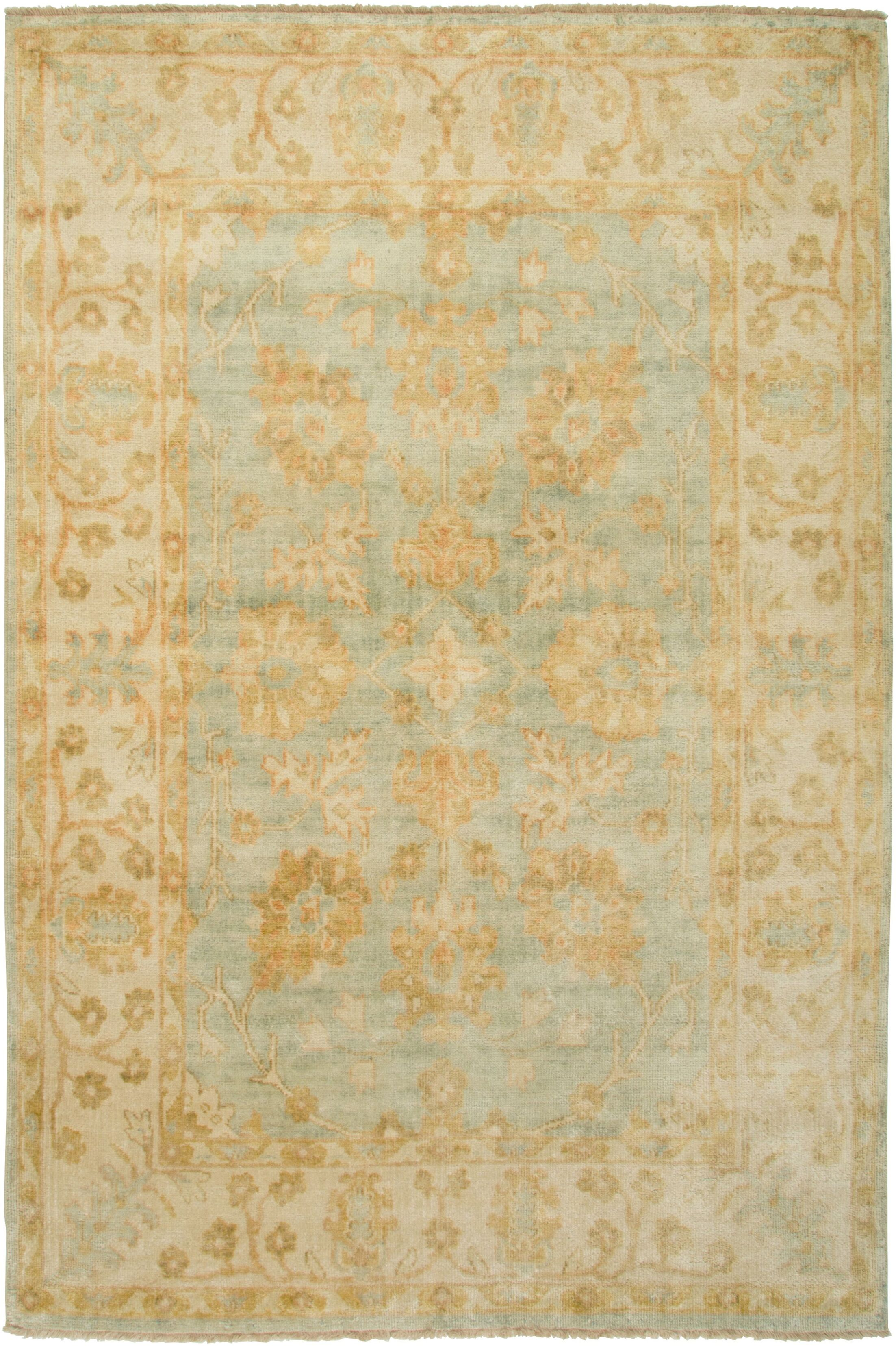 Cabinda Hand-Knotted Beige Area Rug Rug Size: Rectangle 3'6