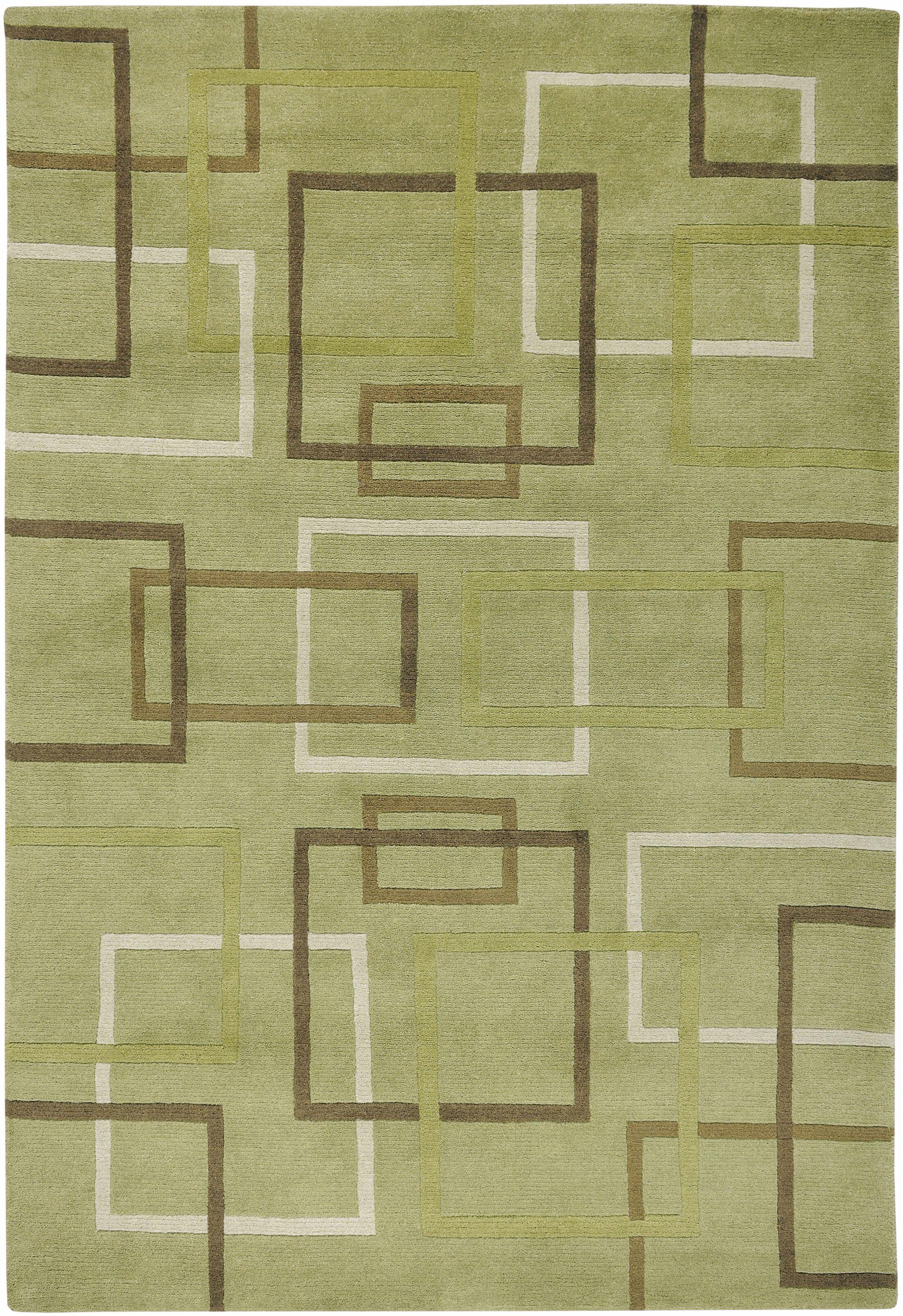 Dakar Hand-Knotted Lime Area Rug Rug Size: Rectangle 9' x 12'