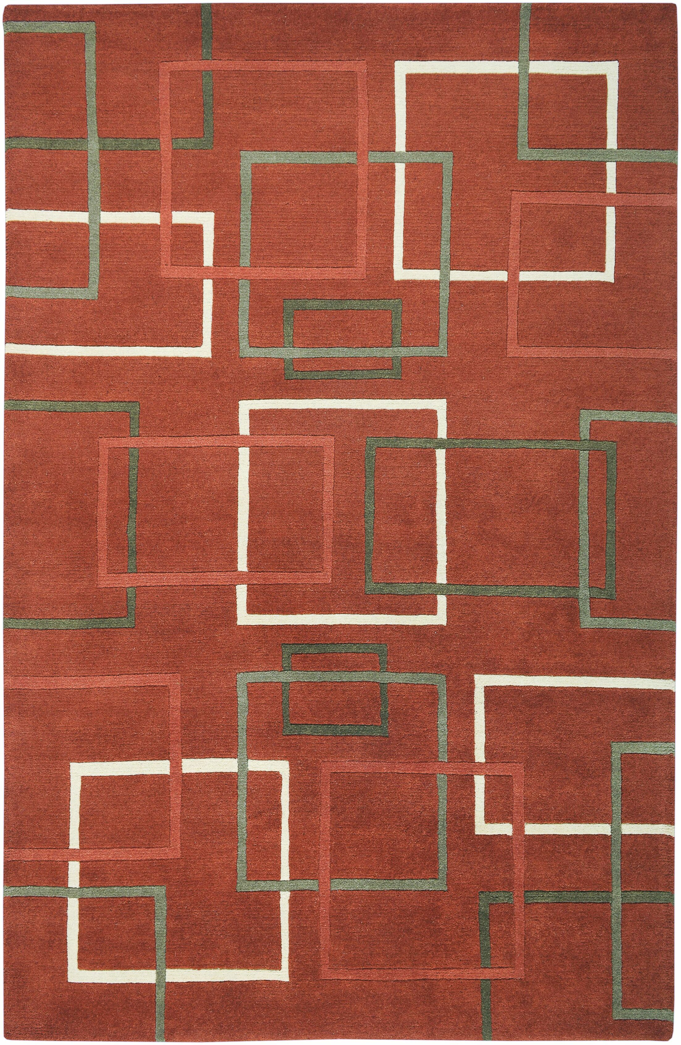 Senegal Hand-Knotted Rust Area Rug Rug Size: Rectangle 3' x 5'