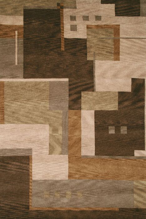 Savannah Hand-Knotted Brown Area Rug Rug Size: Rectangle 8' x 10'