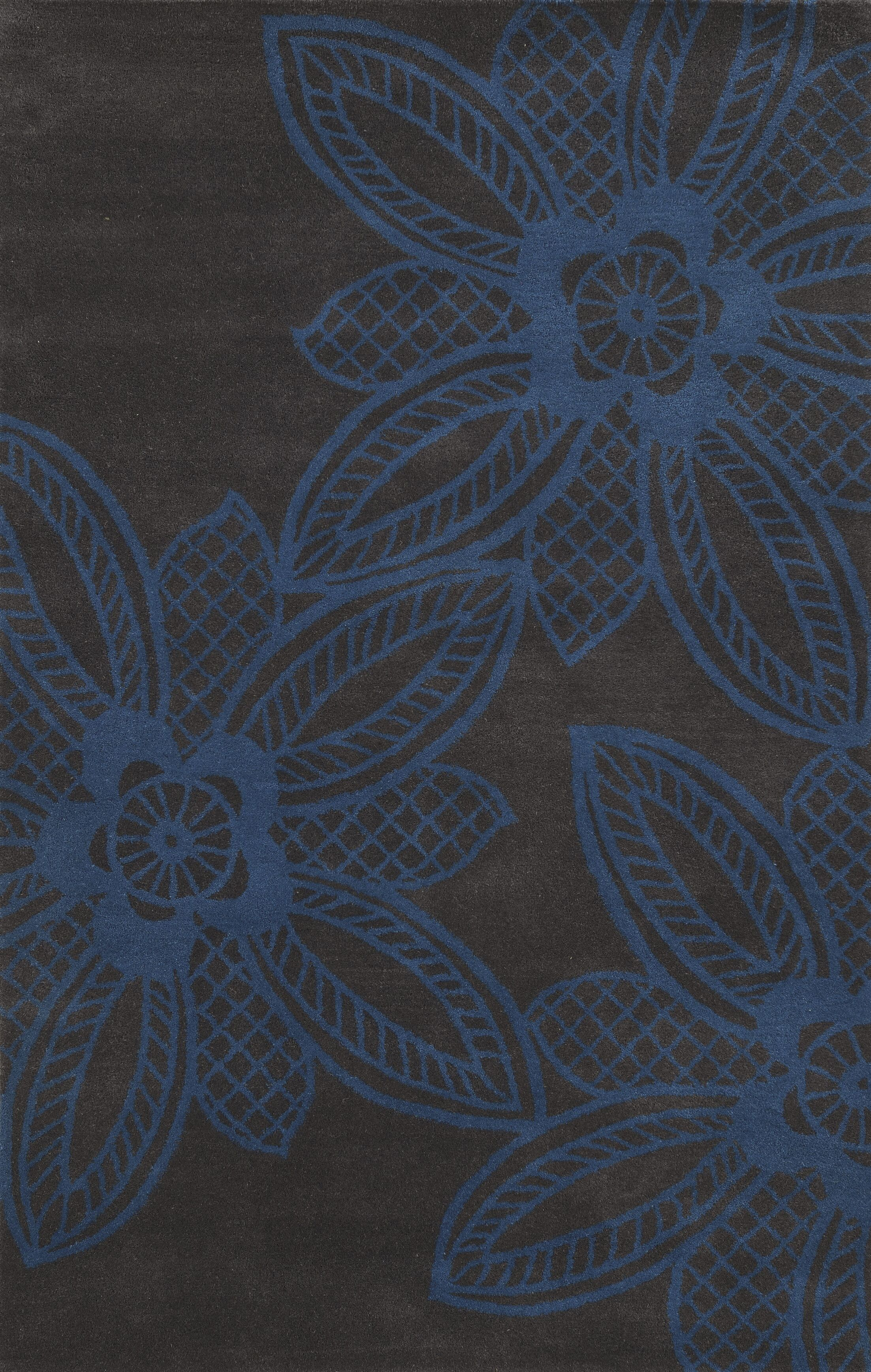 Sukhumi Hand-Tufted Blue/Grey Area Rug Rug Size: Round 8'