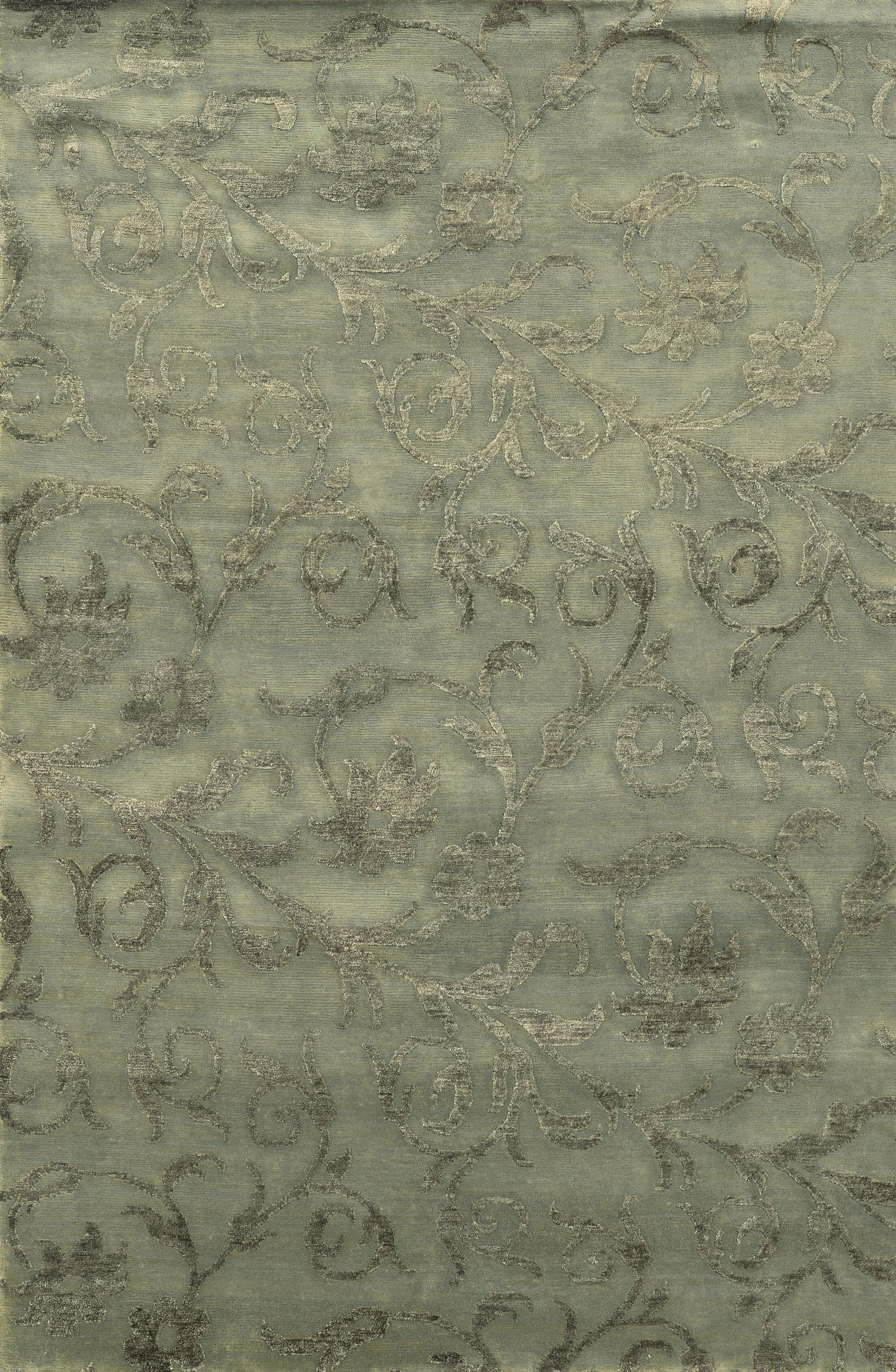 Trinidad Hand-Knotted Grey Area Rug Rug Size: Rectangle 3'6