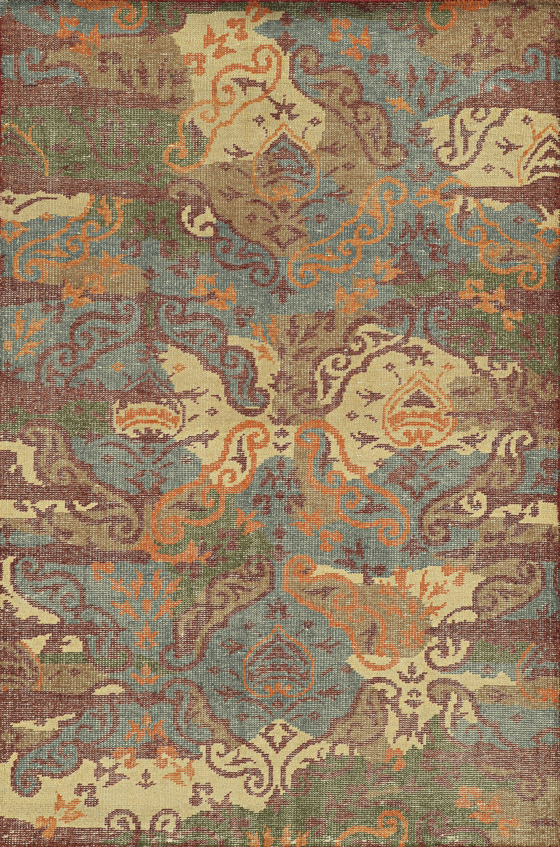 Cardiff Hand-Knotted Area Rug Rug Size: Rectangle 5' x 8'