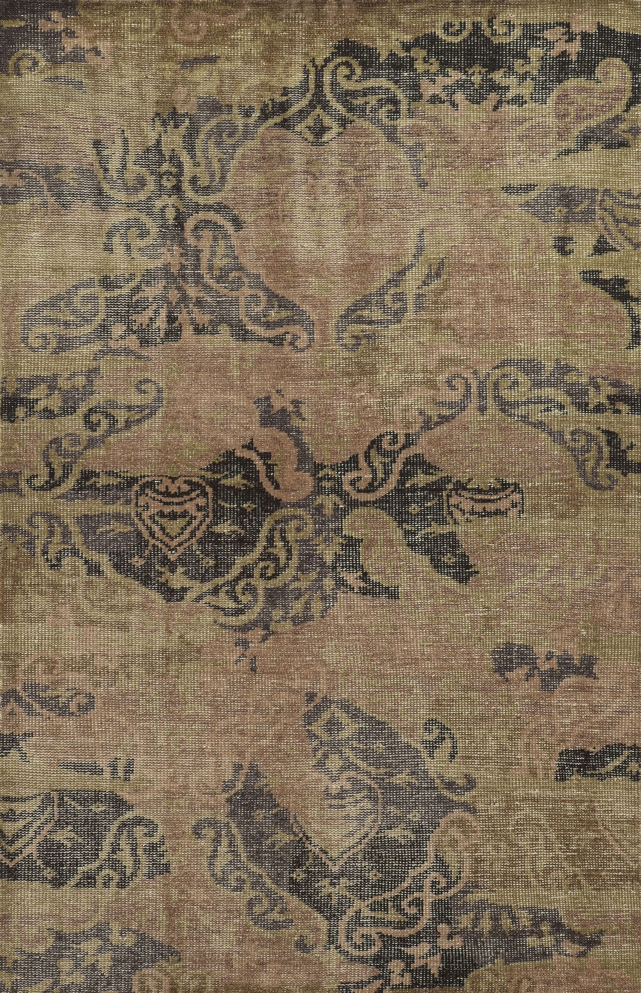 Glasgow Hand-Knotted Area Rug Rug Size: Rectangle 8' x 10'