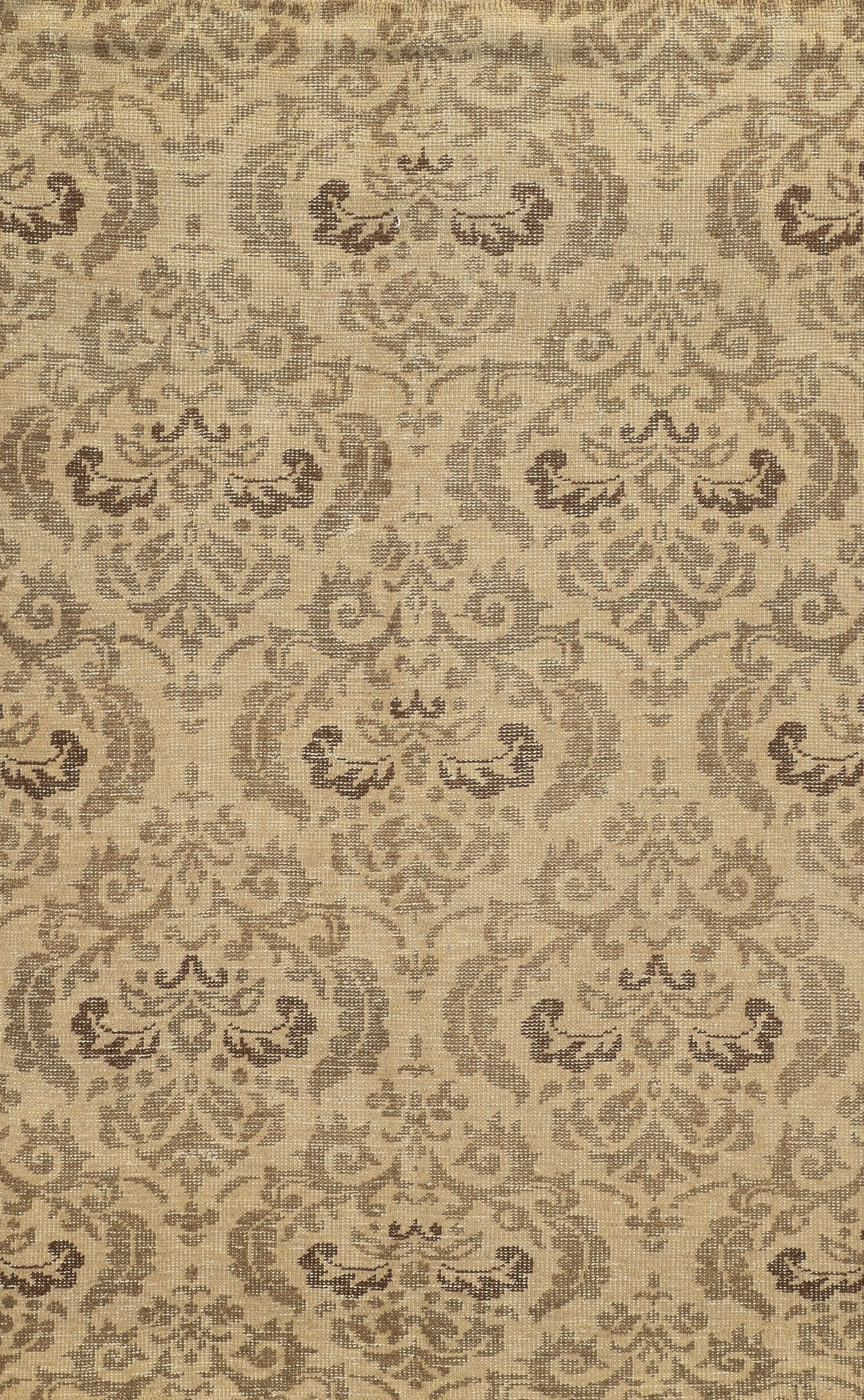 Almeria Hand-Knotted Ivory/Grey Area Rug Rug Size: Rectangle 2' x 3'