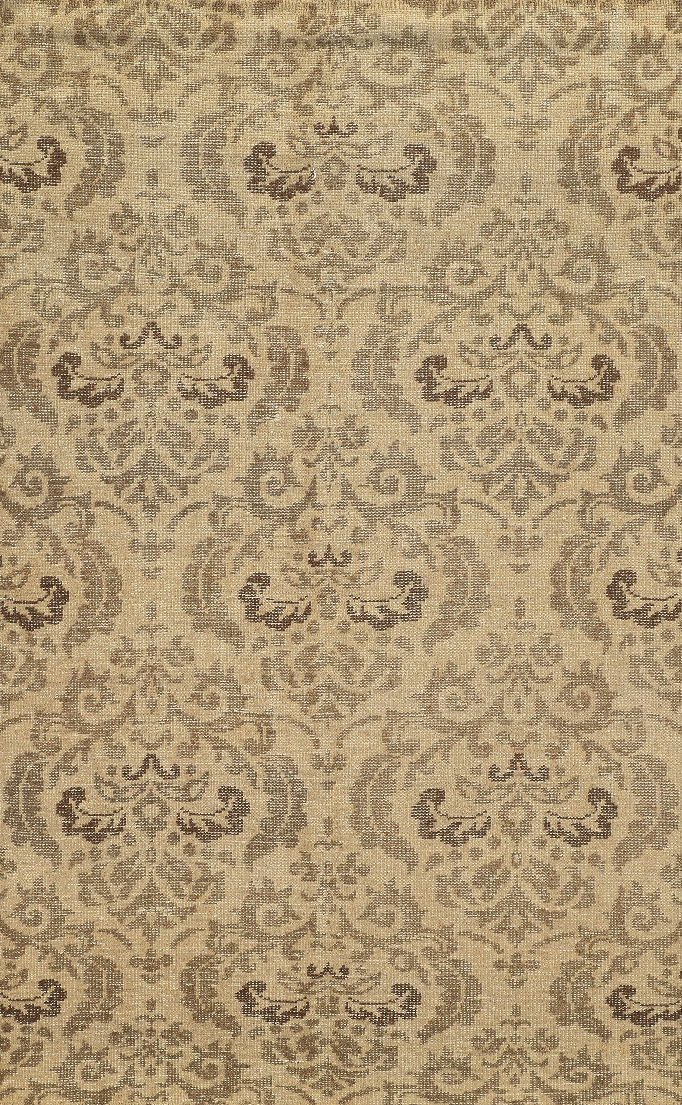 Almeria Hand-Knotted Ivory/Grey Area Rug Rug Size: Rectangle 8' x 10'
