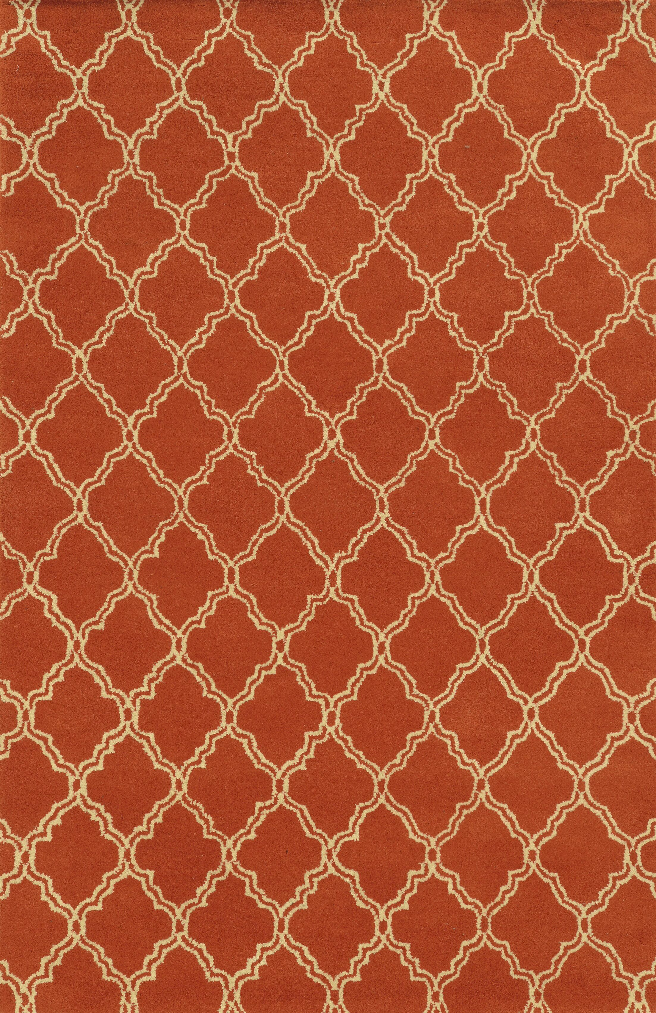 Marmaris Hand-Tufted Orange Area Rug Rug Size: Rectangle 2' x 3'