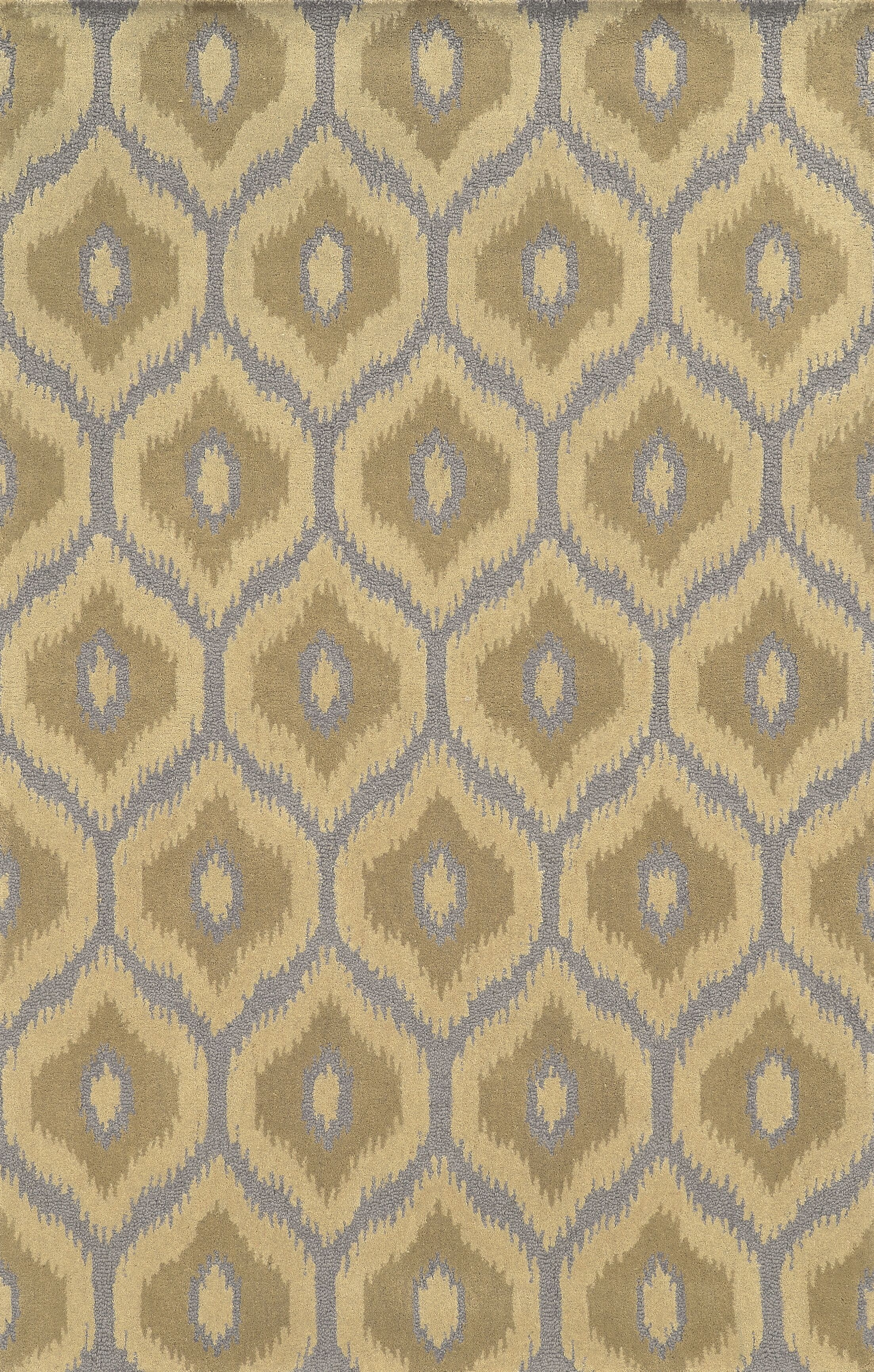 Mersa Hand-Tufted Beige Area Rug Rug Size: Rectangle 9' x 12'