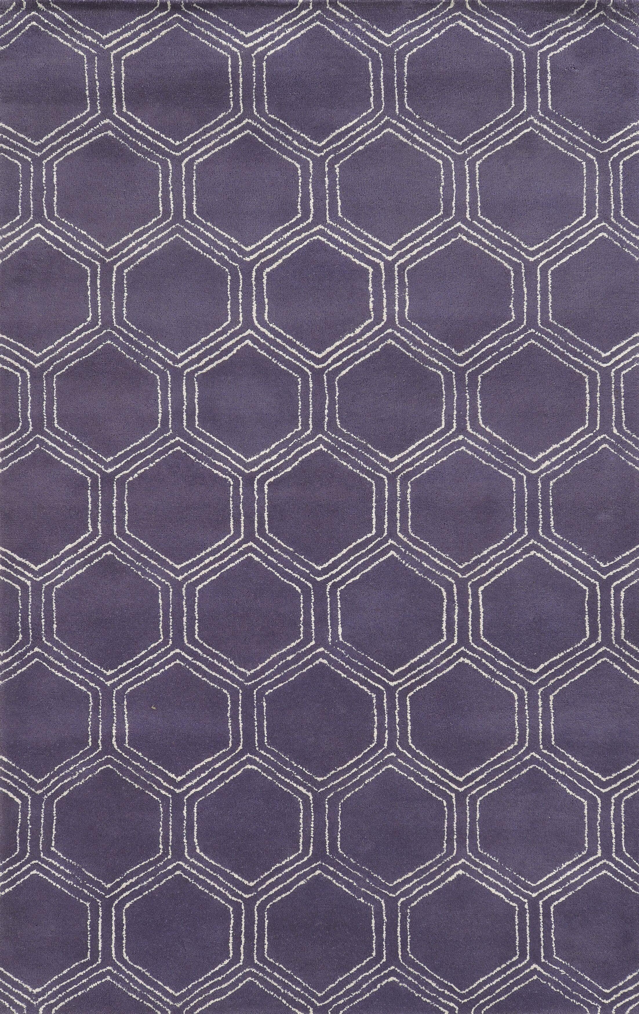 Tamaulipas Hand-Tufted Purple Area Rug Rug Size: Rectangle 8' x 10'
