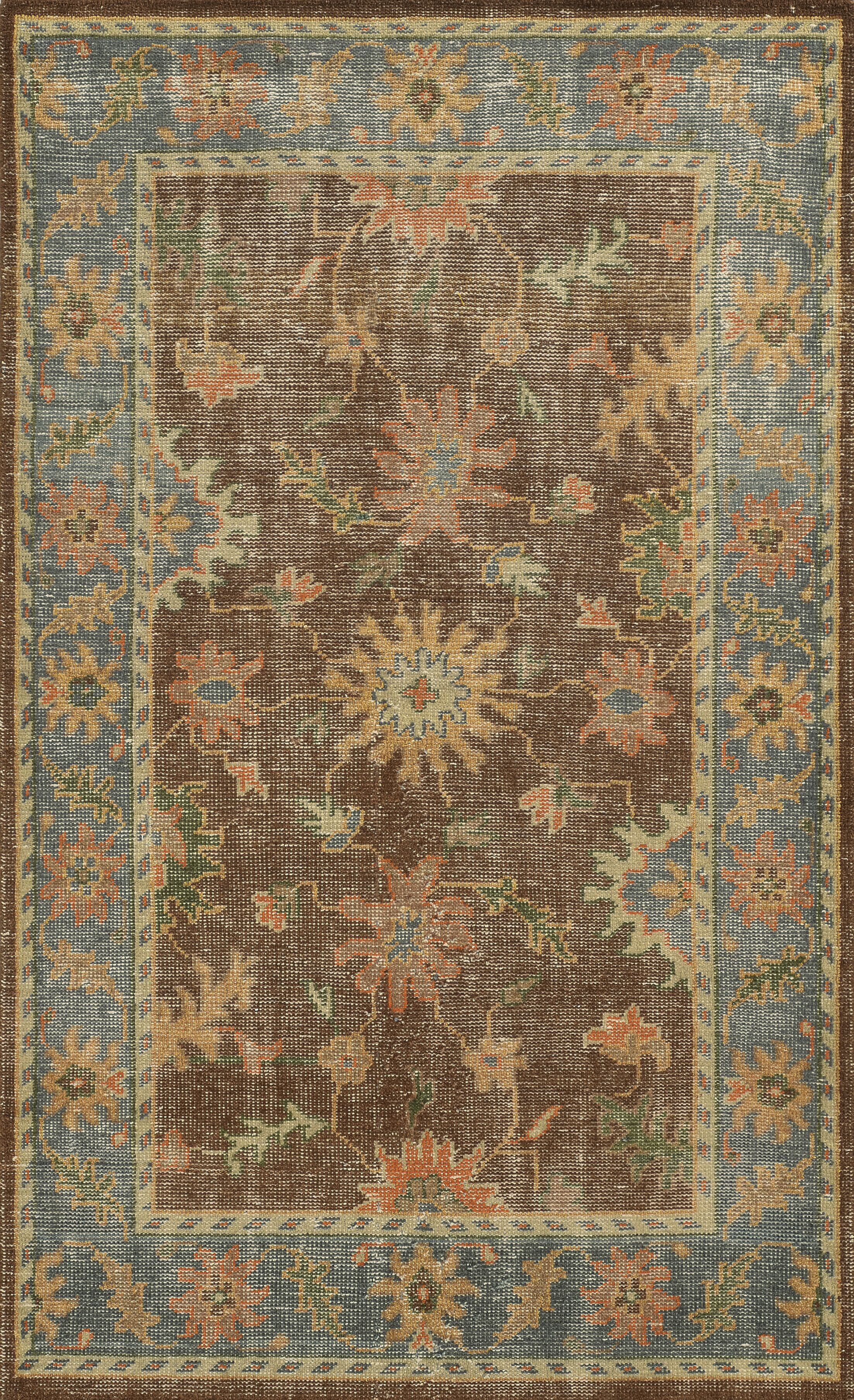Jarvis Rust/Blue Rug Rug Size: Rectangle 5' x 8'