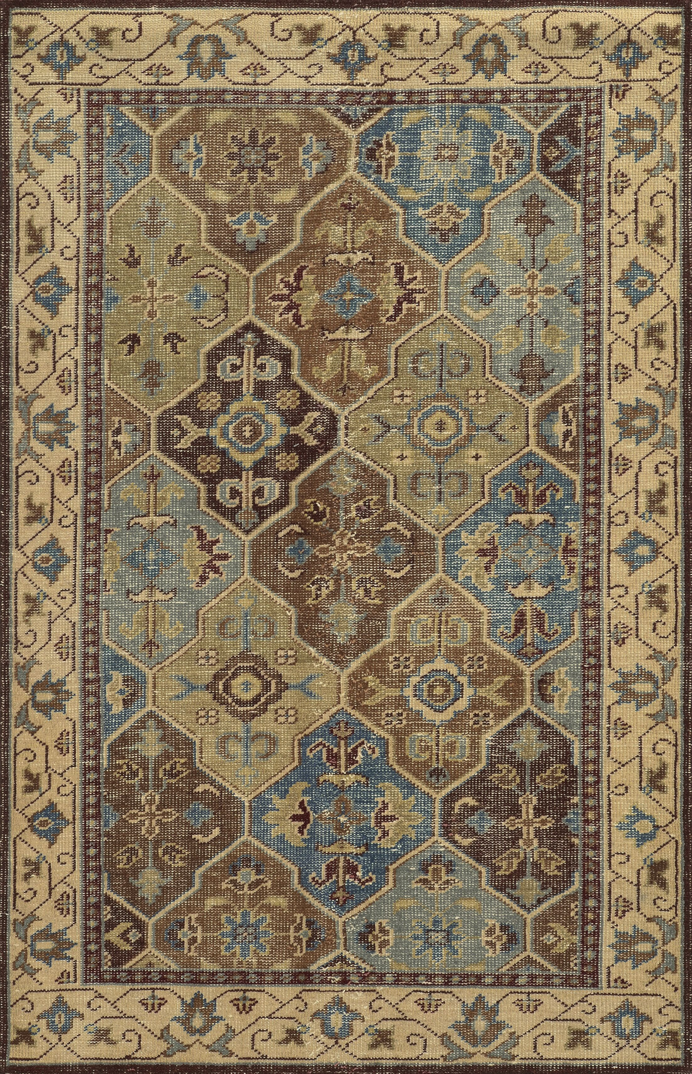 Aberdeen Hand-Knotted Brown Area Rug Rug Size: Rectangle 2' x 3'