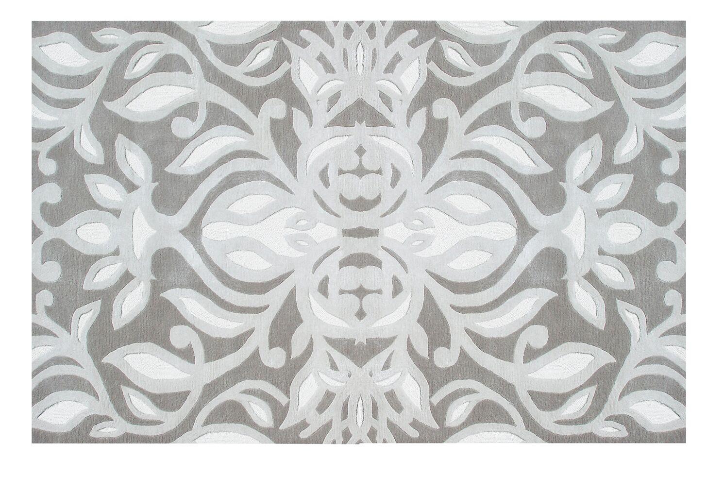 Flotta Hand-Tufted Gray Area Rug Rug Size: 8' x 11'